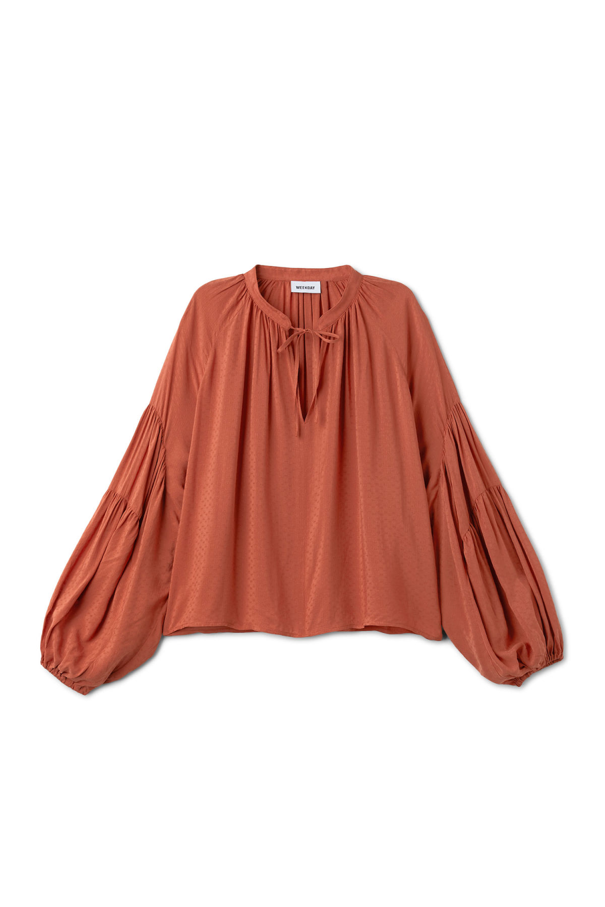 Front image of Weekday miles blouse in orange
