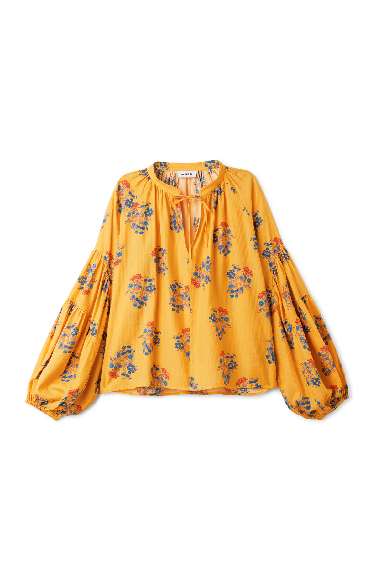 Front image of Weekday miles blouse in yellow