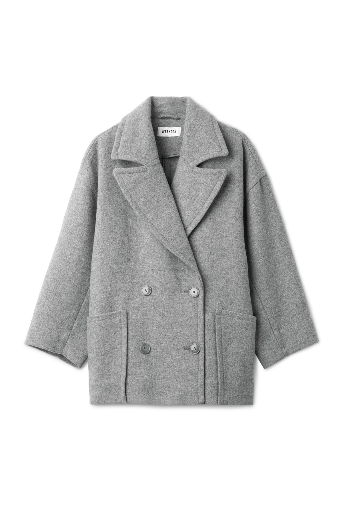 Front image of Weekday gallery jacket  in grey
