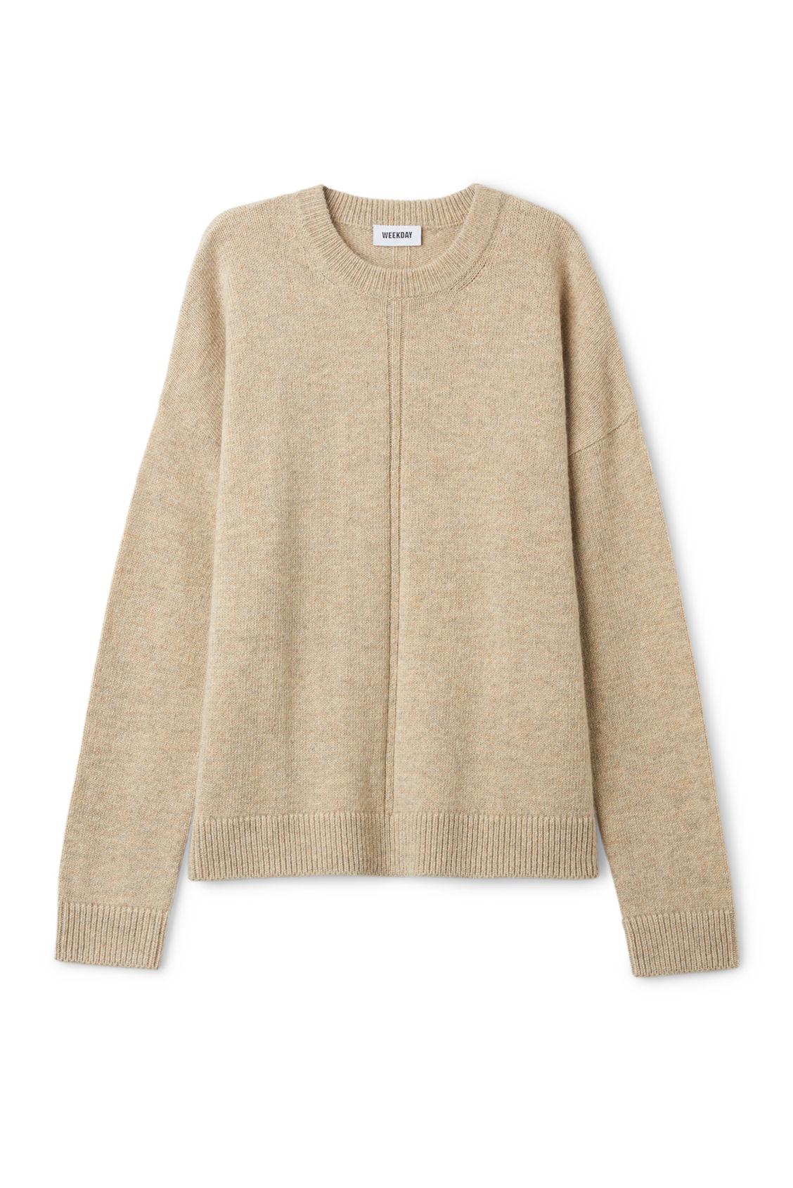 Sand Dark Knitwear Sweater Weekday Font qASEg