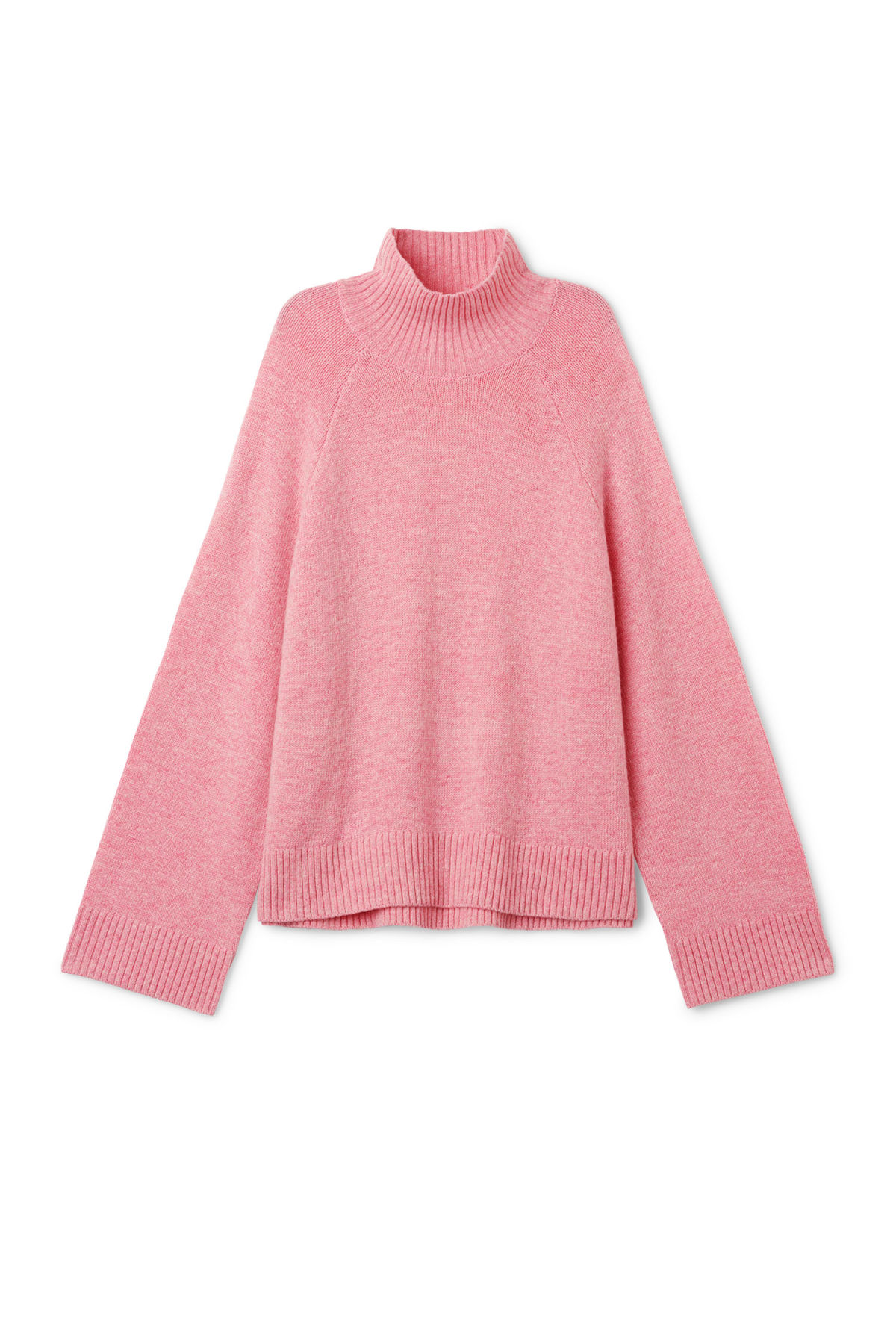 Front image of Weekday avant sweater in pink