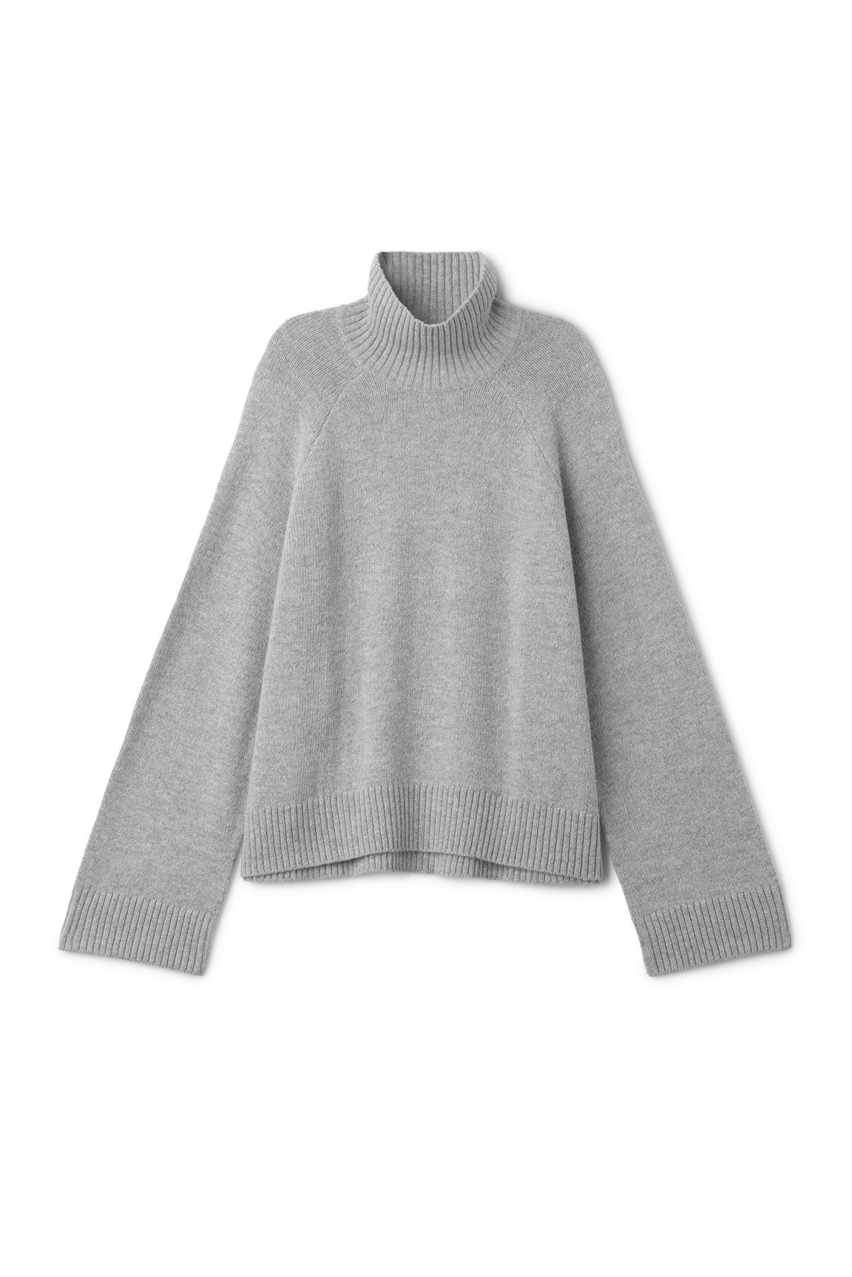 Front image of Weekday avant sweater in grey