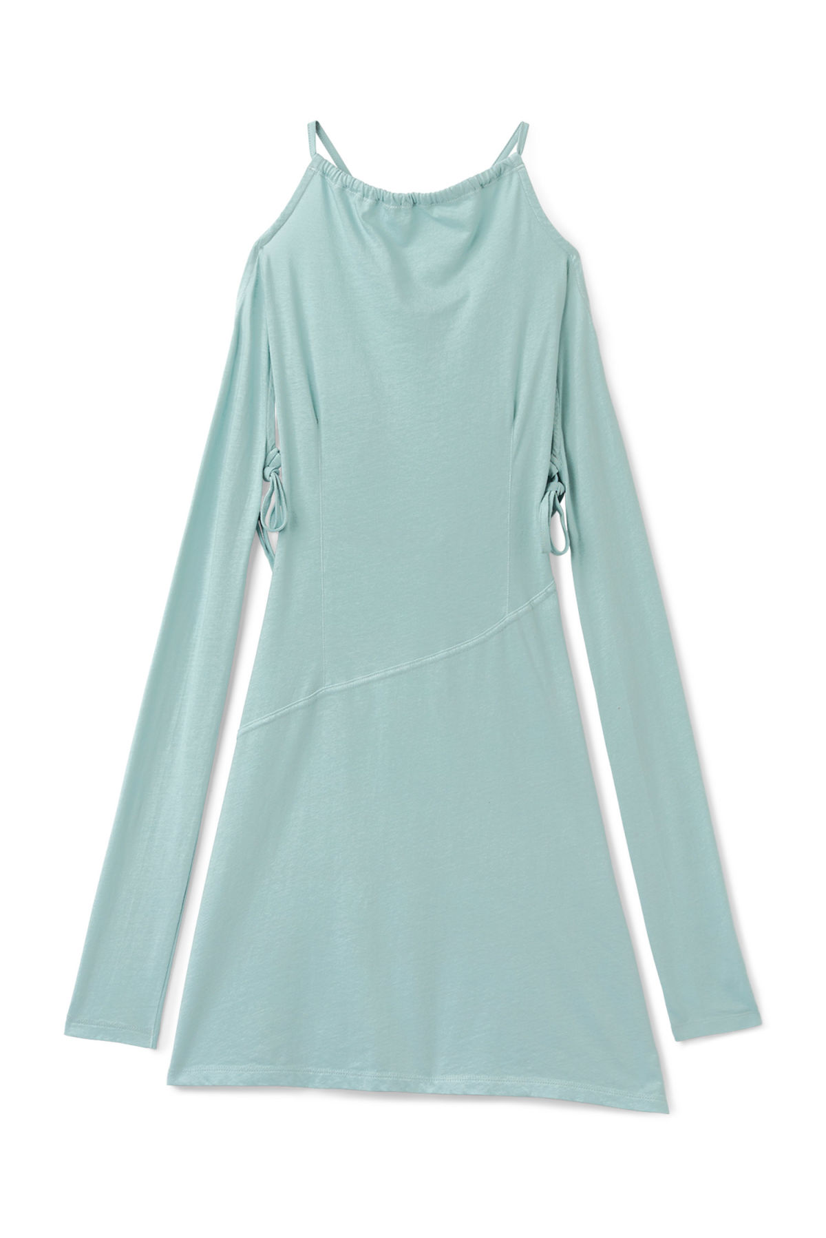 Front image of Weekday shiloh dress in turquoise