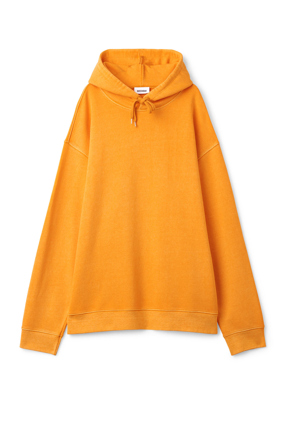 Front image of Weekday shanti hoodie in yellow