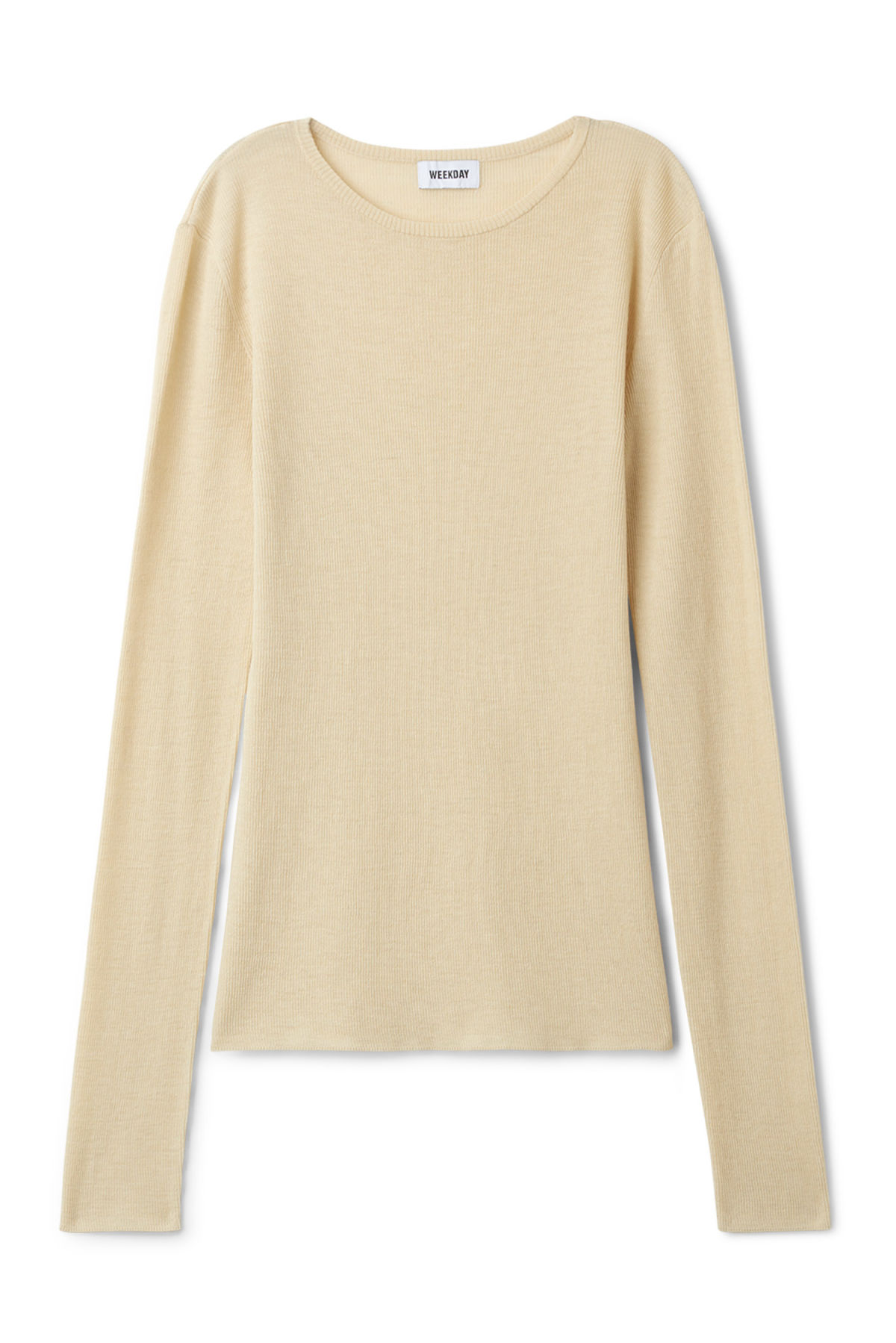Front image of Weekday melodic top in beige