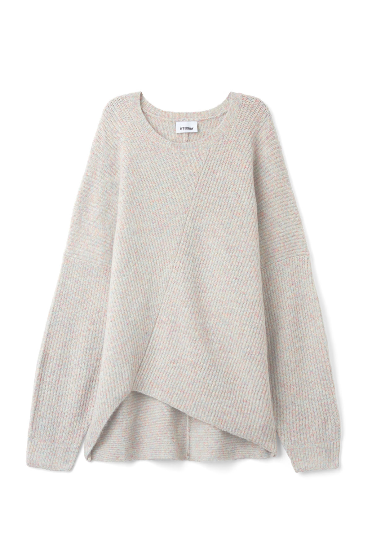 Front image of Weekday fairy sweater in grey