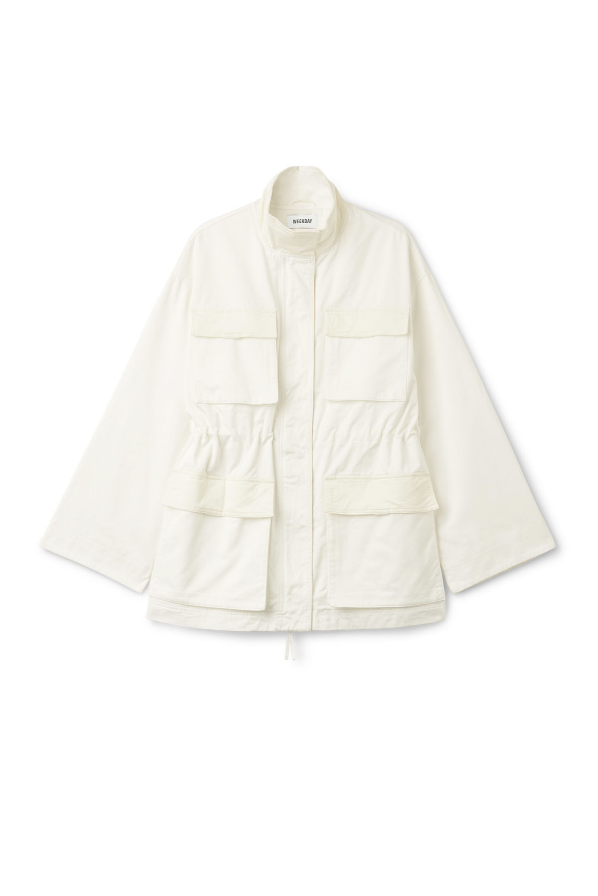 Front image of Weekday anaya jacket in white