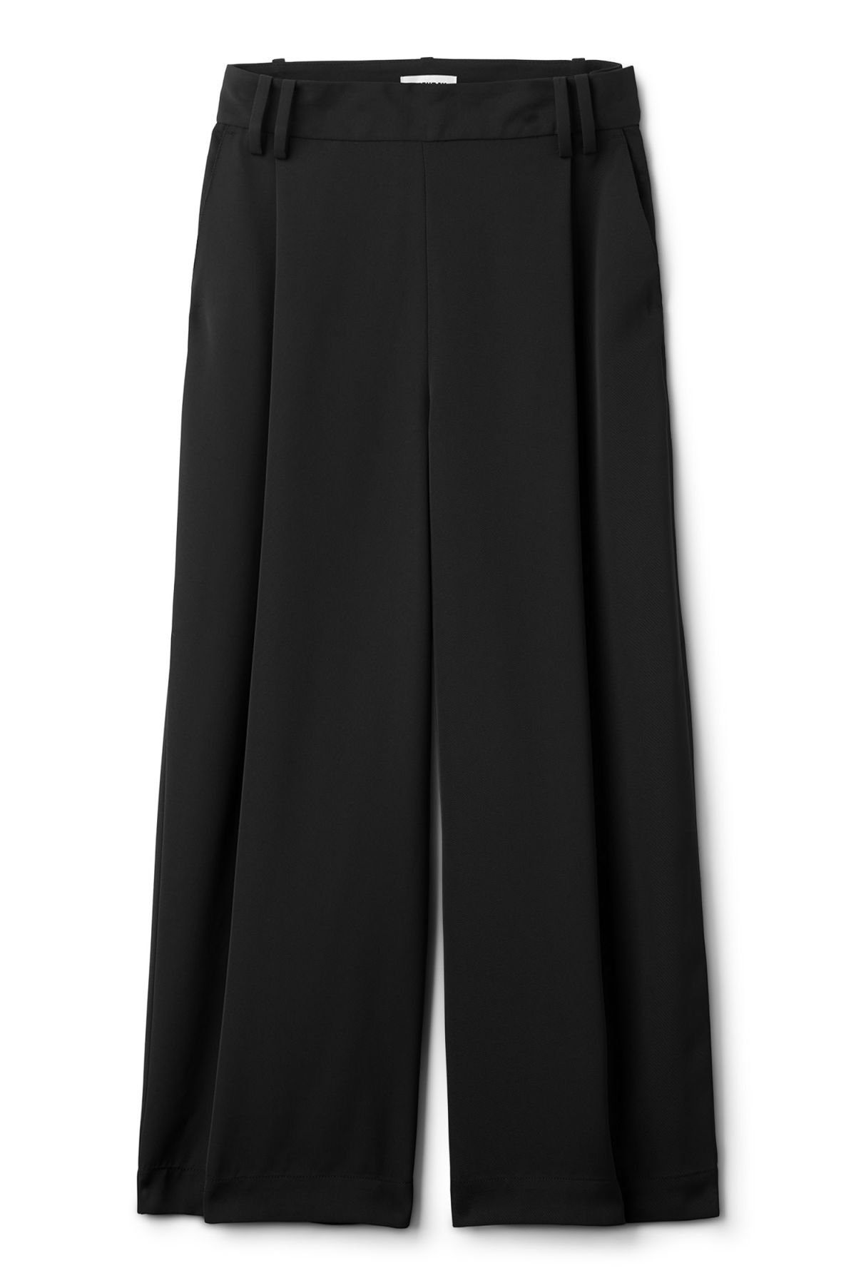 Front image of Weekday mount trousers in black