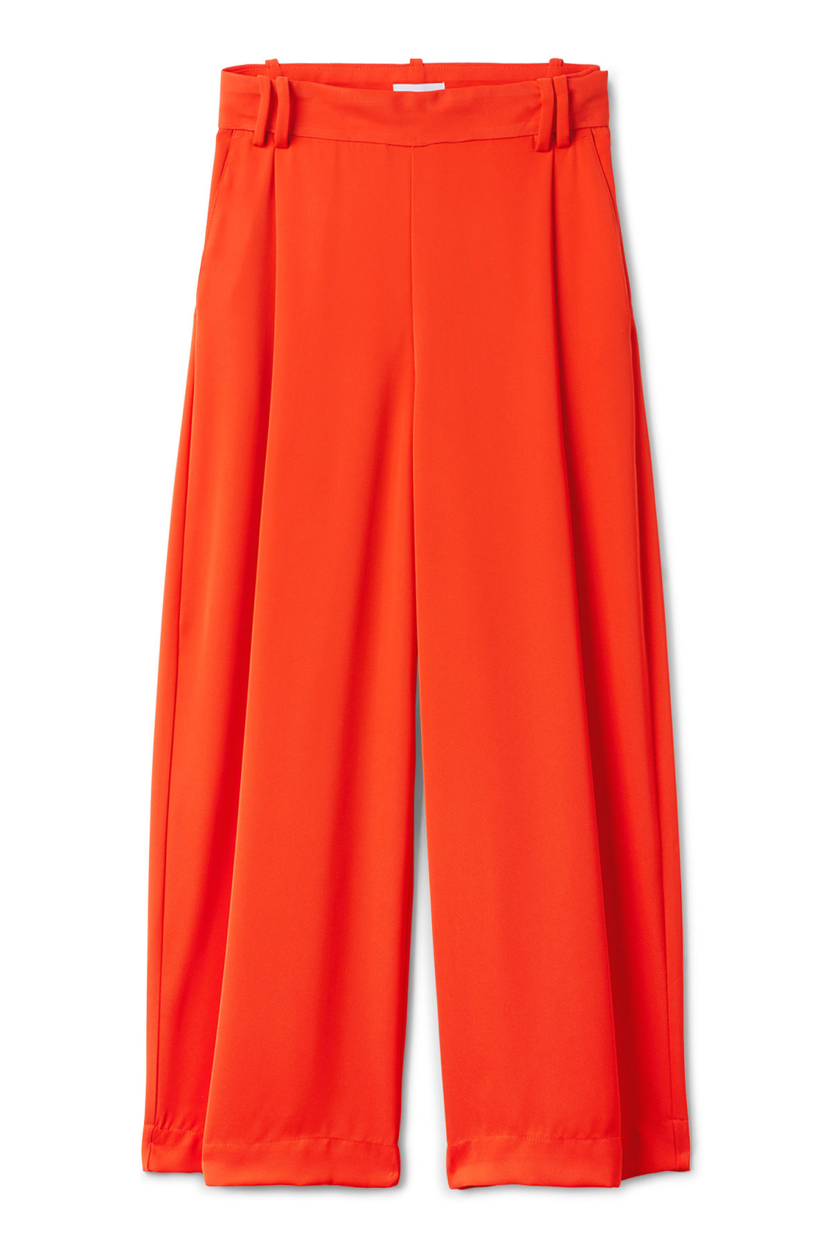 Front image of Weekday mount trousers in orange