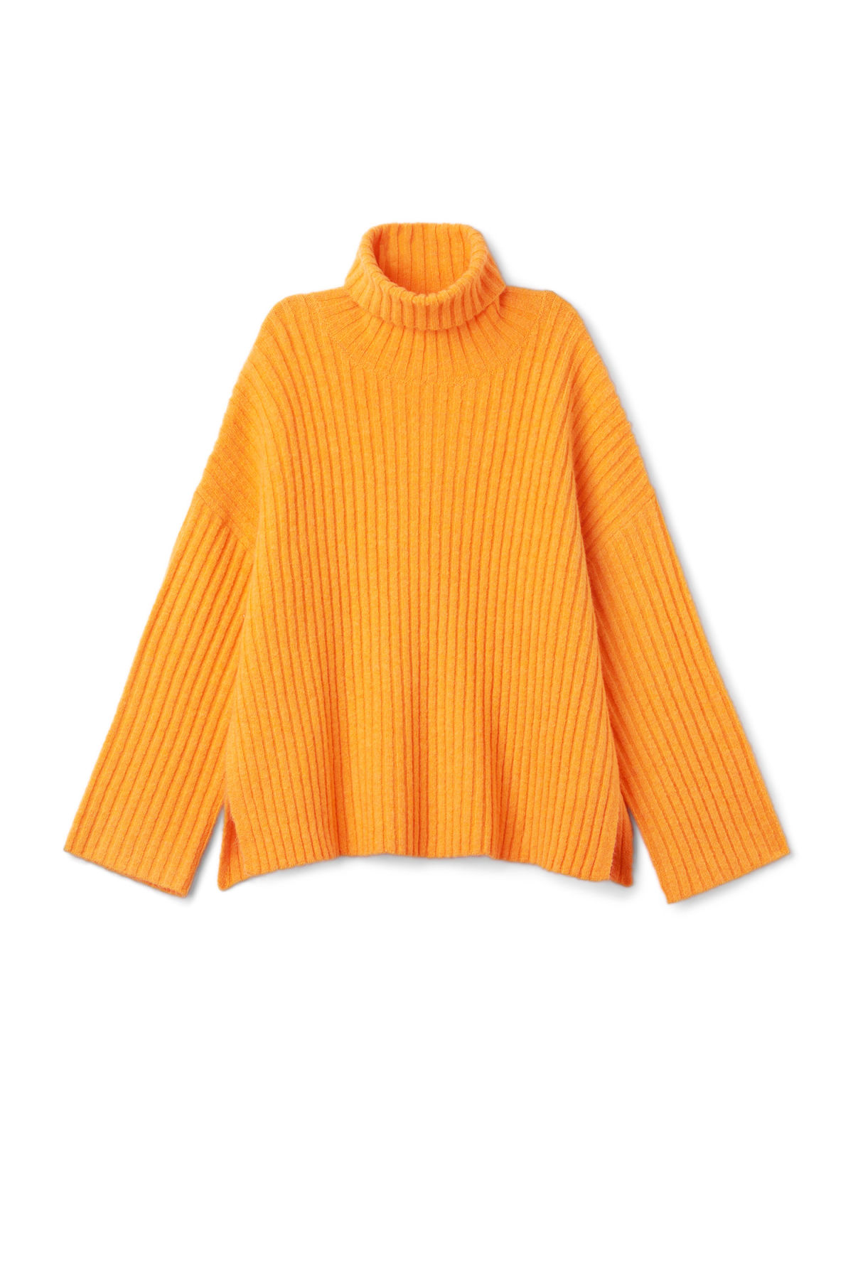 Front image of Weekday etch sweater in yellow