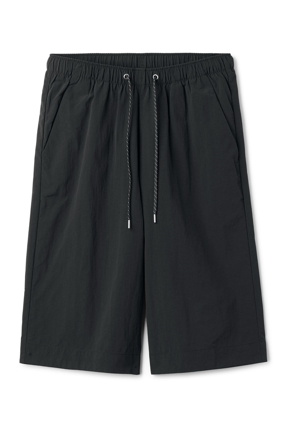 Front image of Weekday europa swim shorts in black