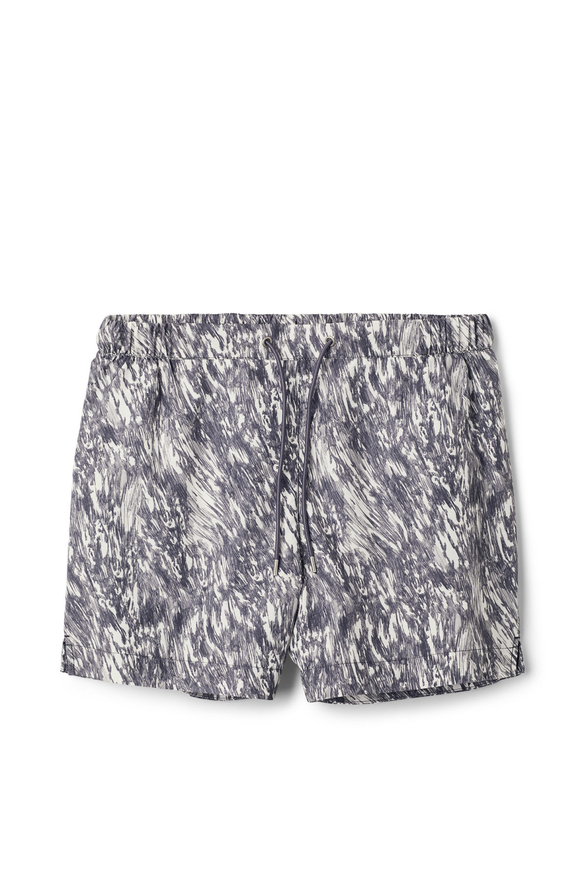 Front image of Weekday apex print swim shorts in blue