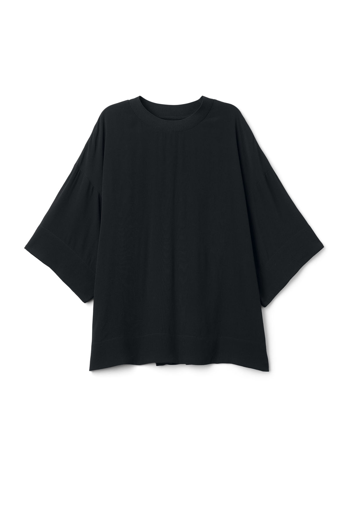 Front image of Weekday symbol woven top in black