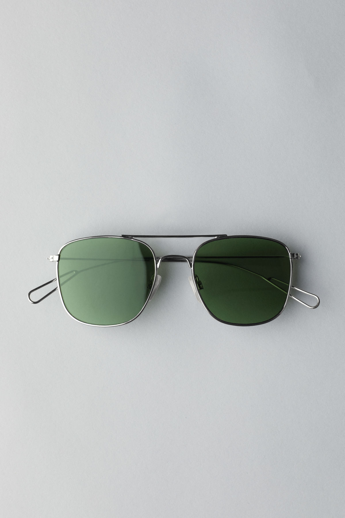 Front image of Weekday cargo squared sunglasses in silver
