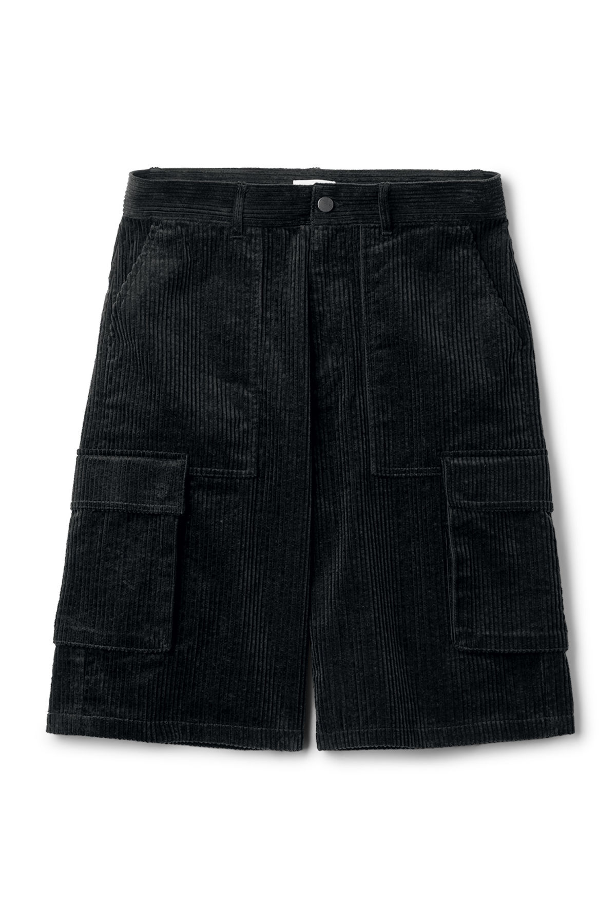 Front image of Weekday unity shorts  in black