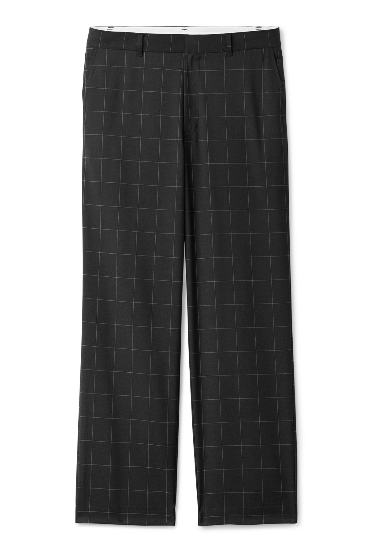 Front image of Weekday sala trousers in black