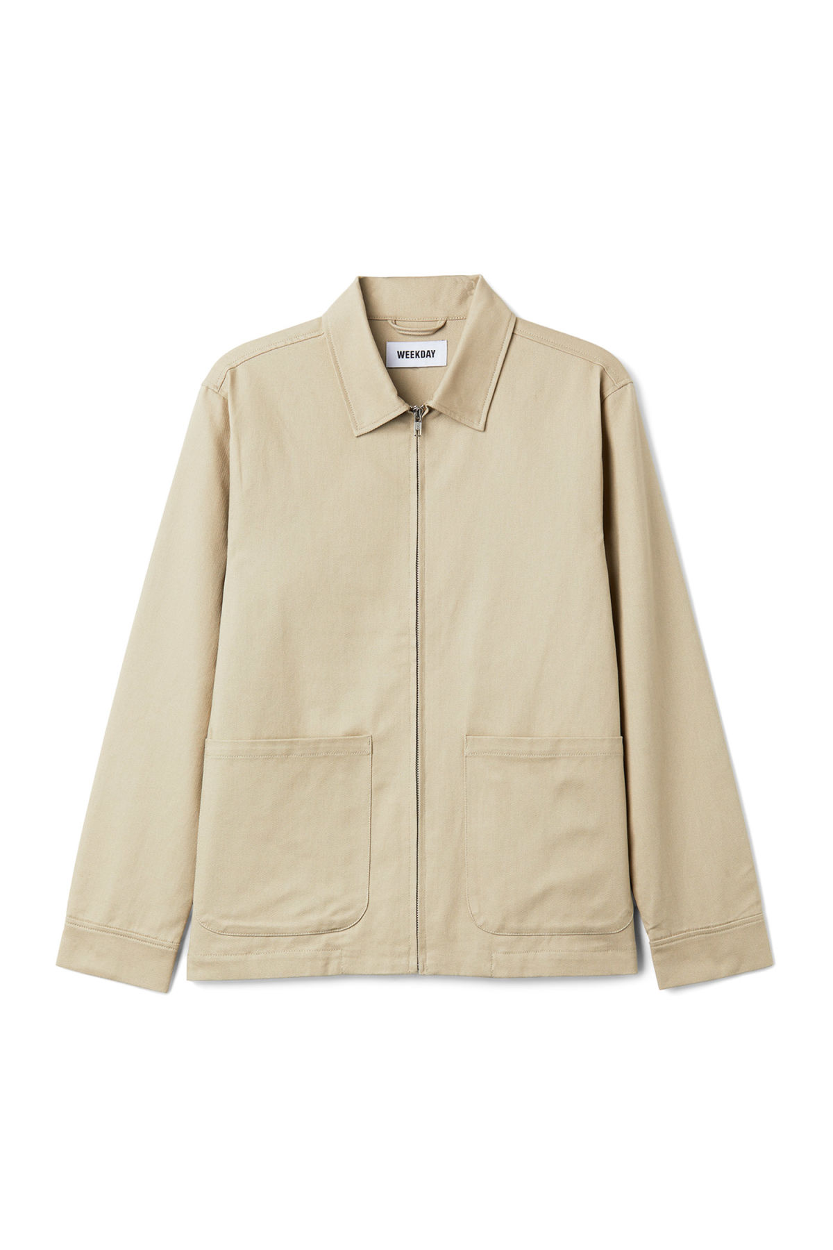 Front image of Weekday camp jacket in beige