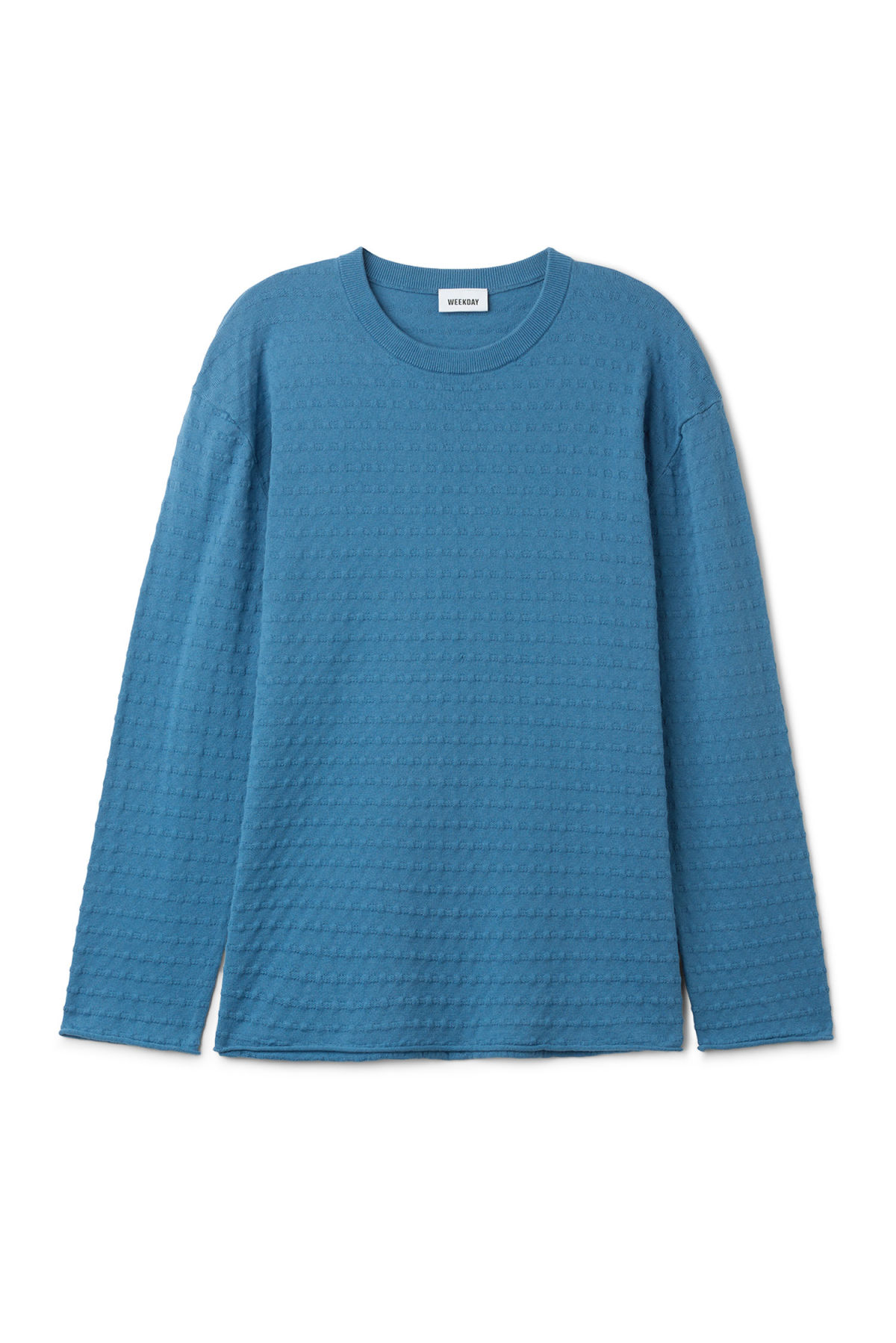 Front image of Weekday prism sweater  in blue