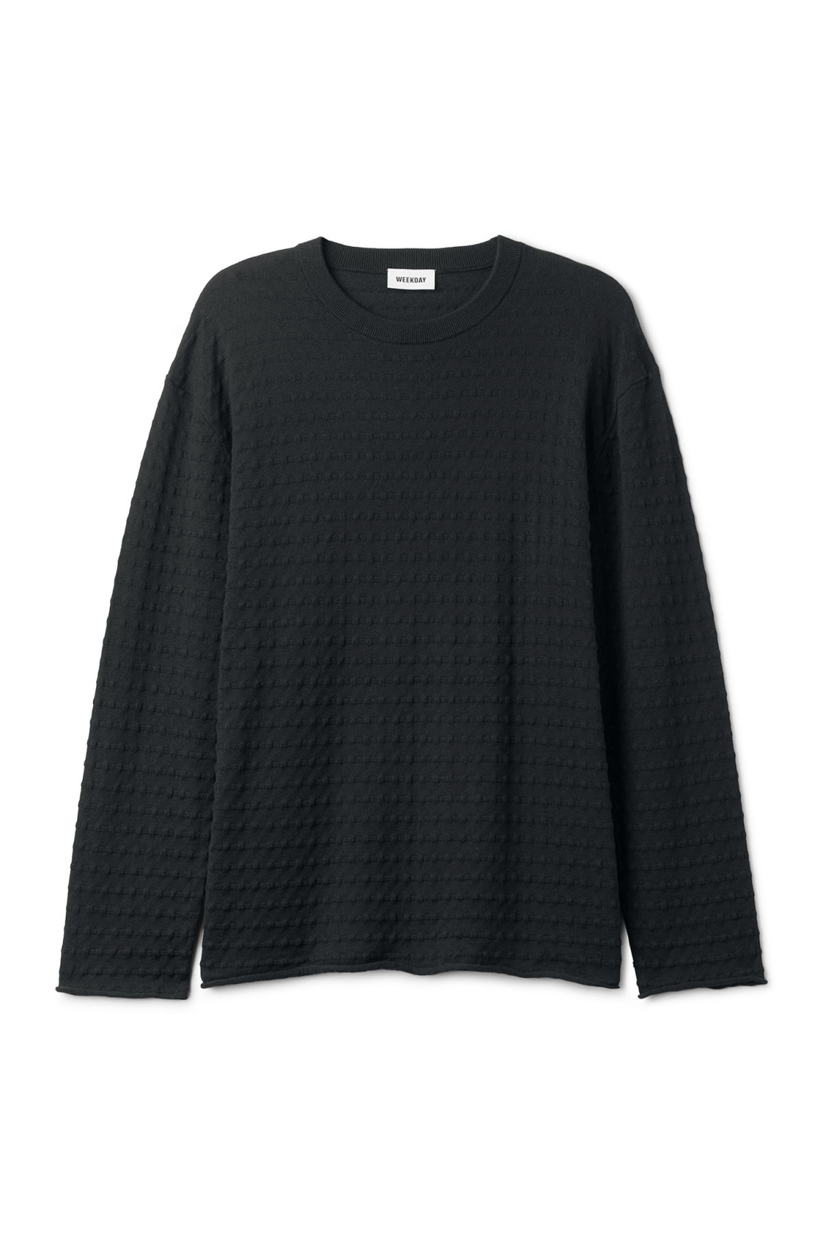 Front image of Weekday prism sweater  in black