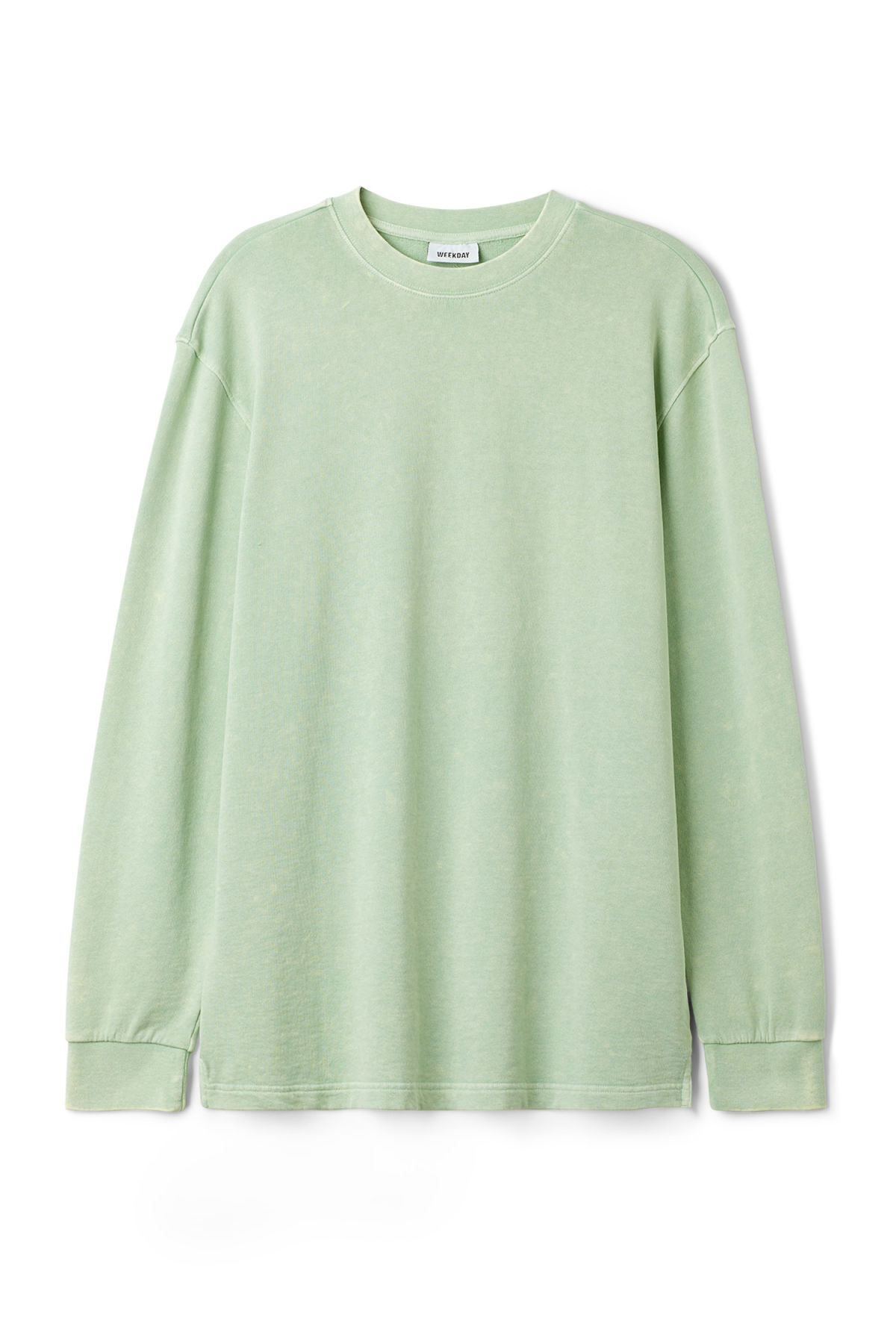 Front image of Weekday radical washed sweatshirt in green