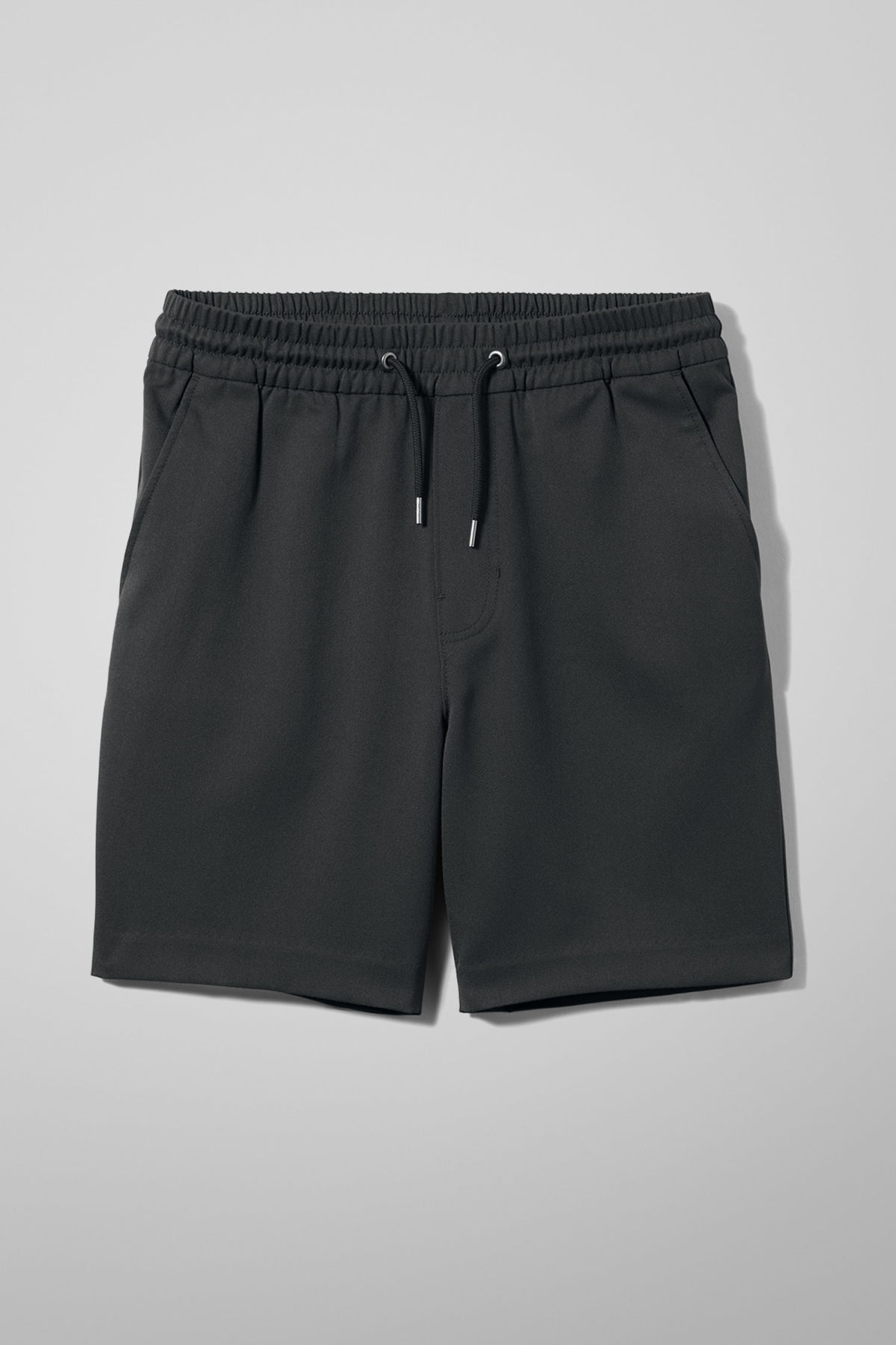 Front image of Weekday alf shorts in grey