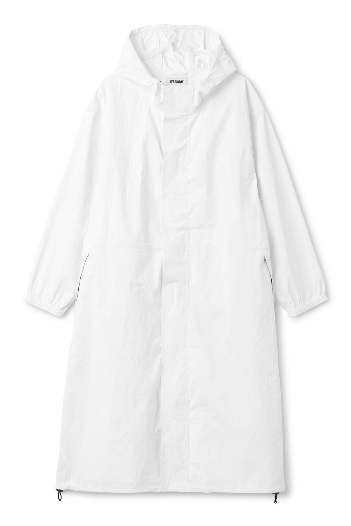 Front image of Weekday accord parka in white