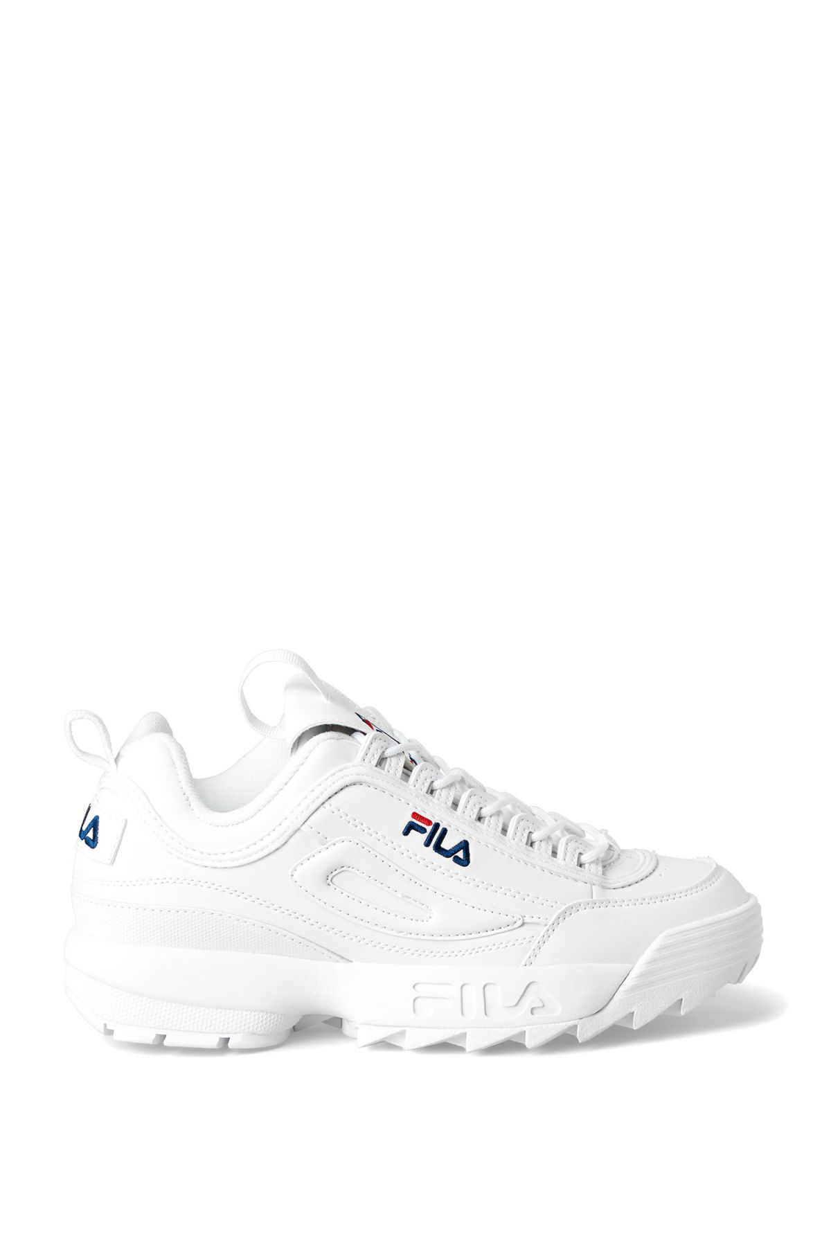 Front image of Weekday f disruptor low wmn in white