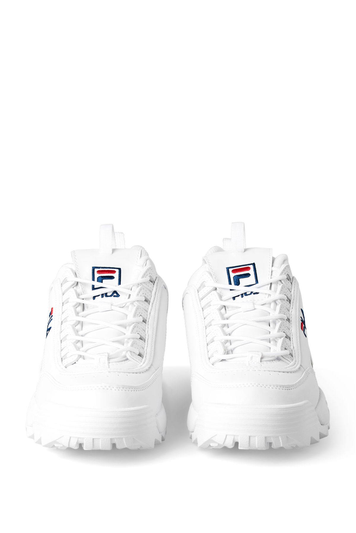 Side image of Weekday disruptor low shoes in white