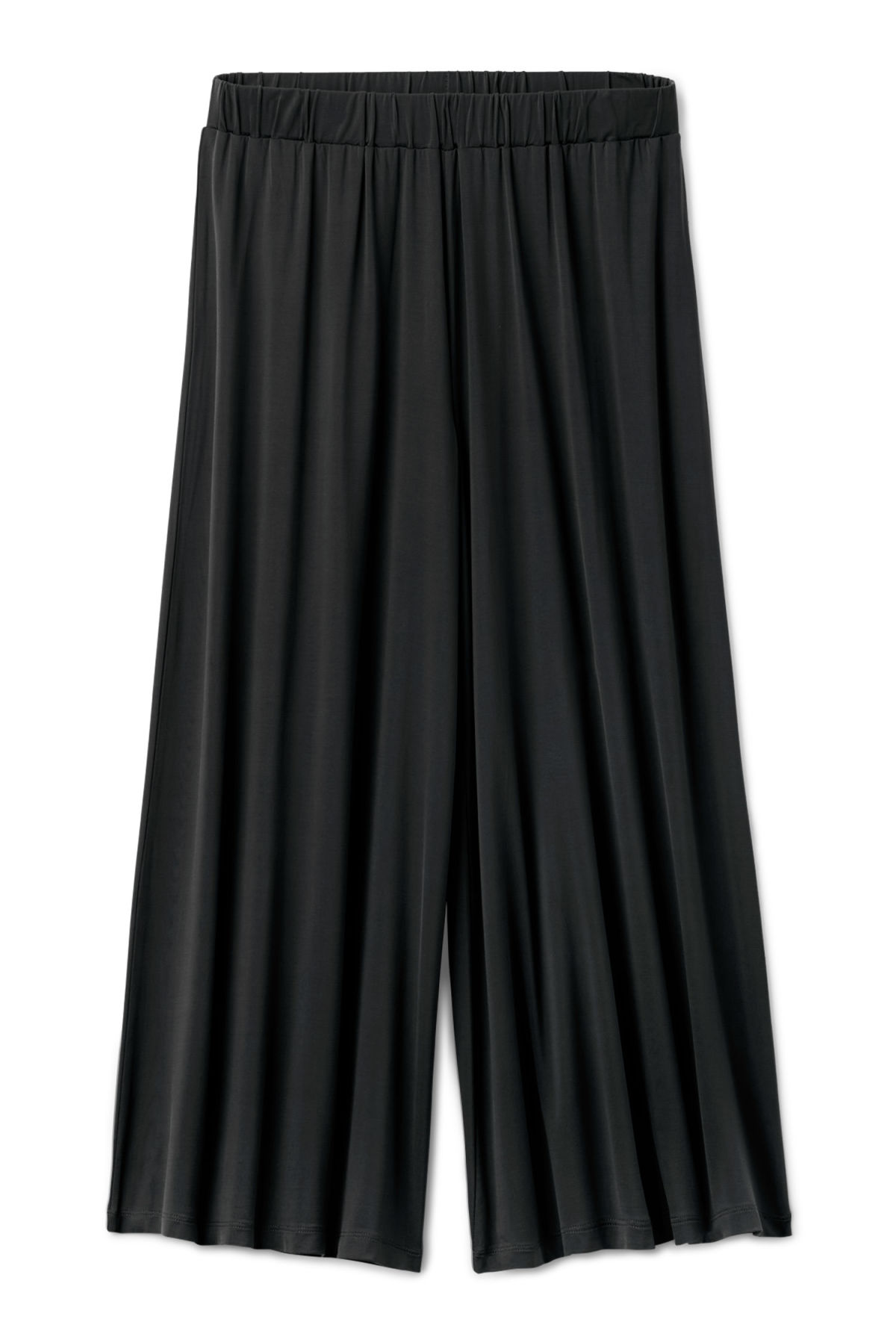 Front image of Weekday essen cupro trousers  in black