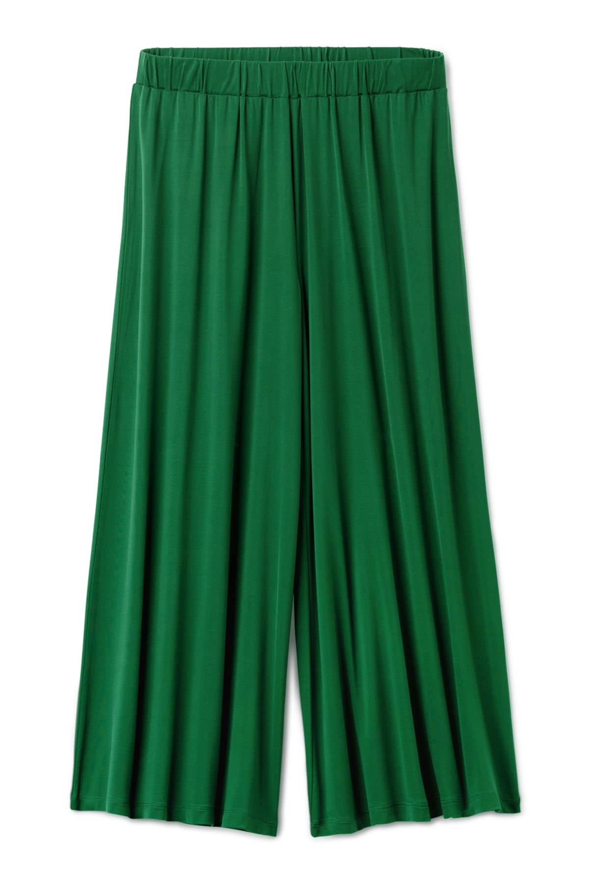 Front image of Weekday essen cupro trousers  in green