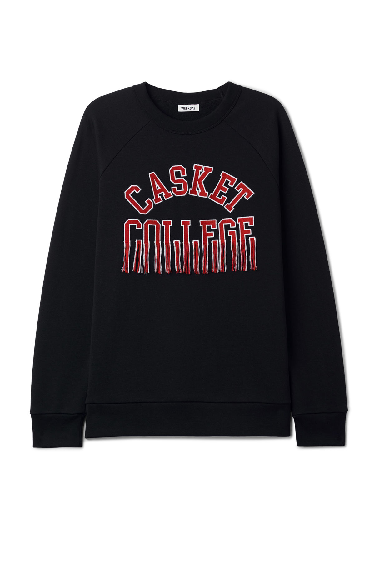 Front image of Weekday jaxon sweatshirt  in black