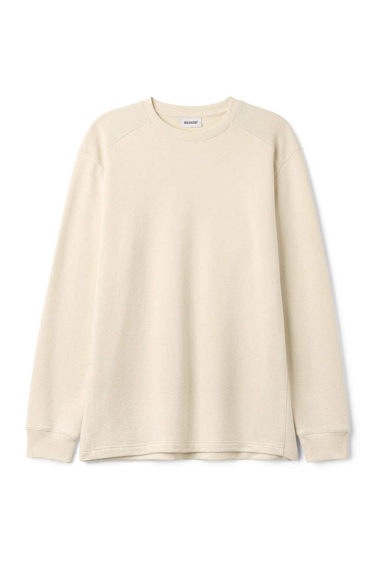 Front image of Weekday civic long sleeve in beige