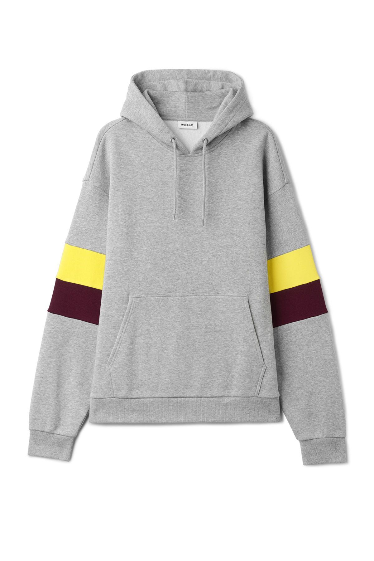 Front image of Weekday seagull hoodie  in grey