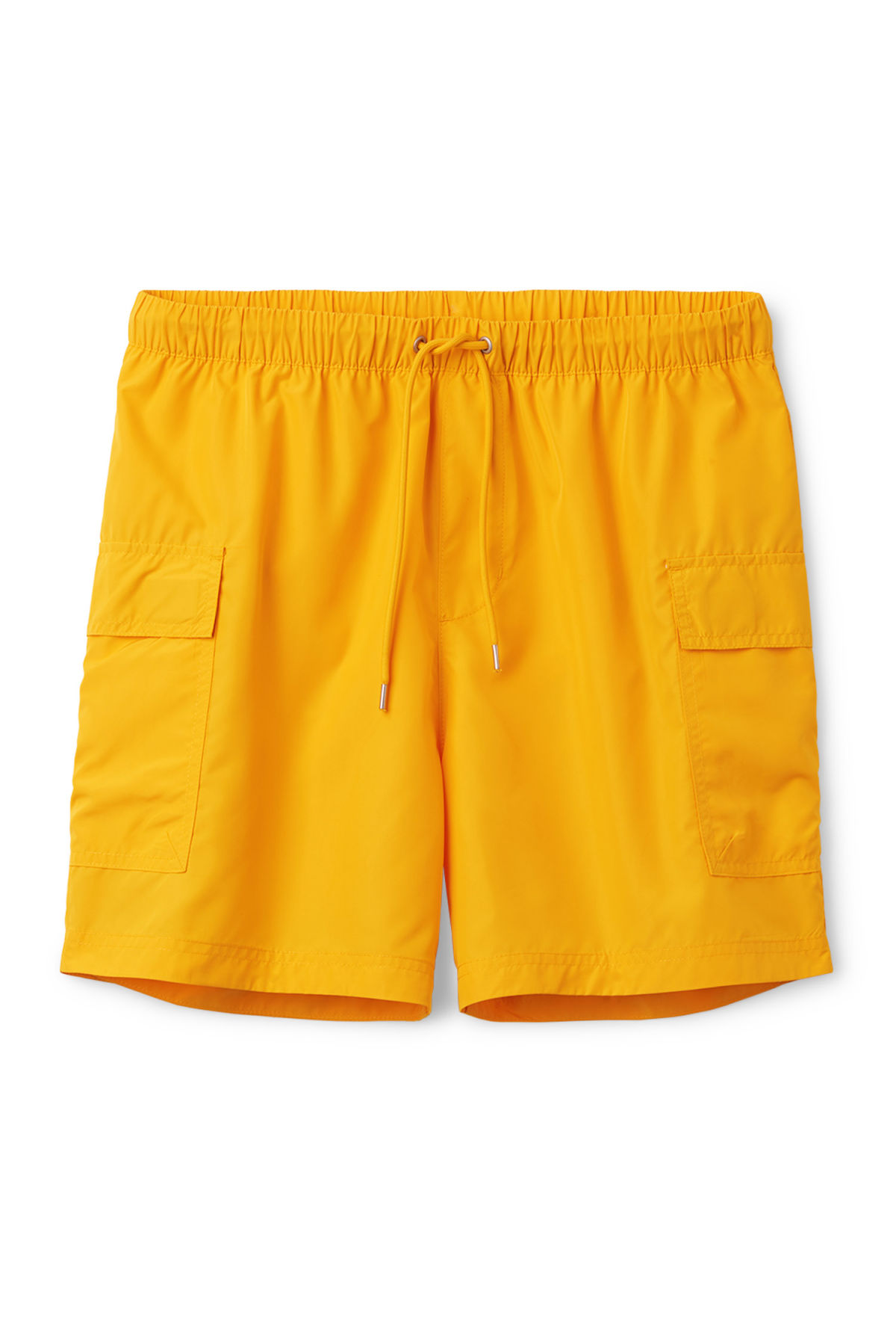Front image of Weekday cymbal swim shorts in yellow