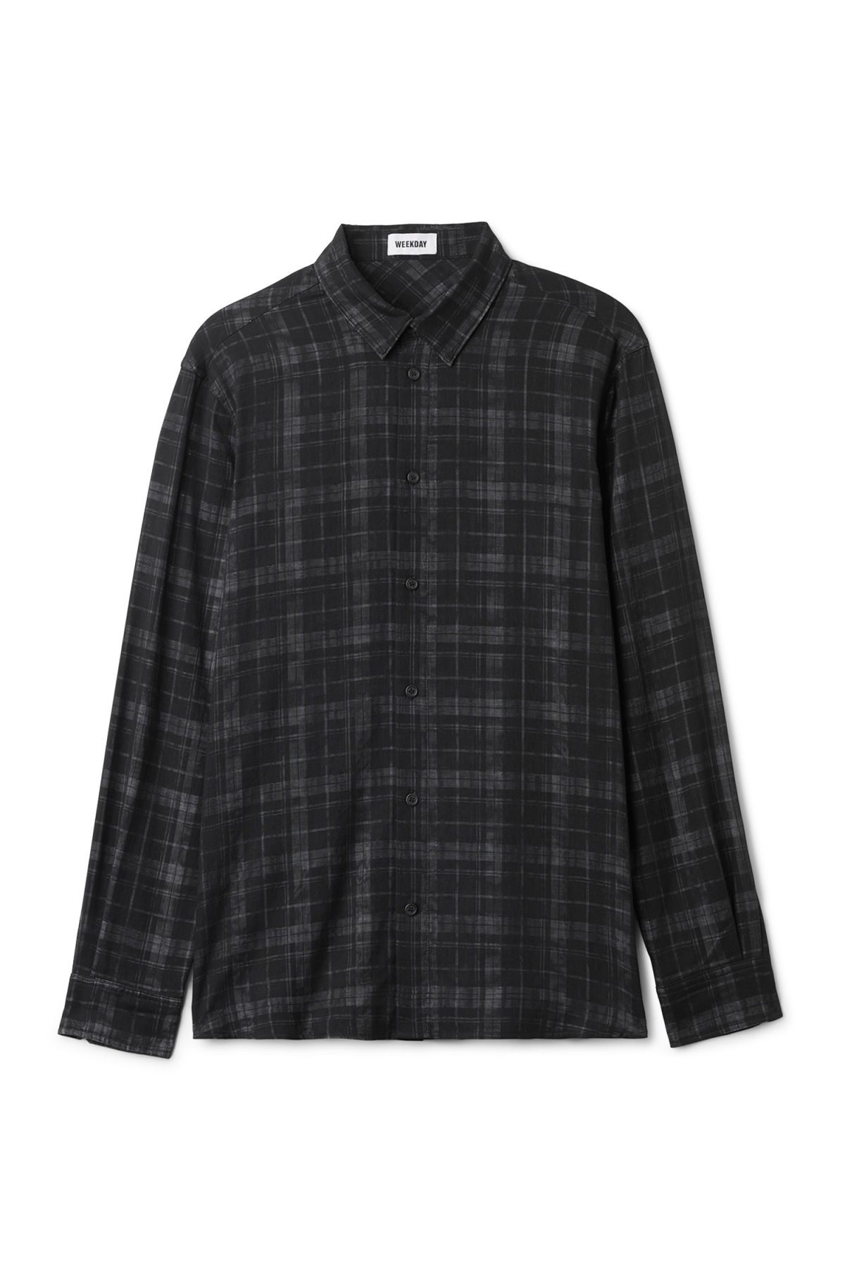 Front image of Weekday whirl shirt in black