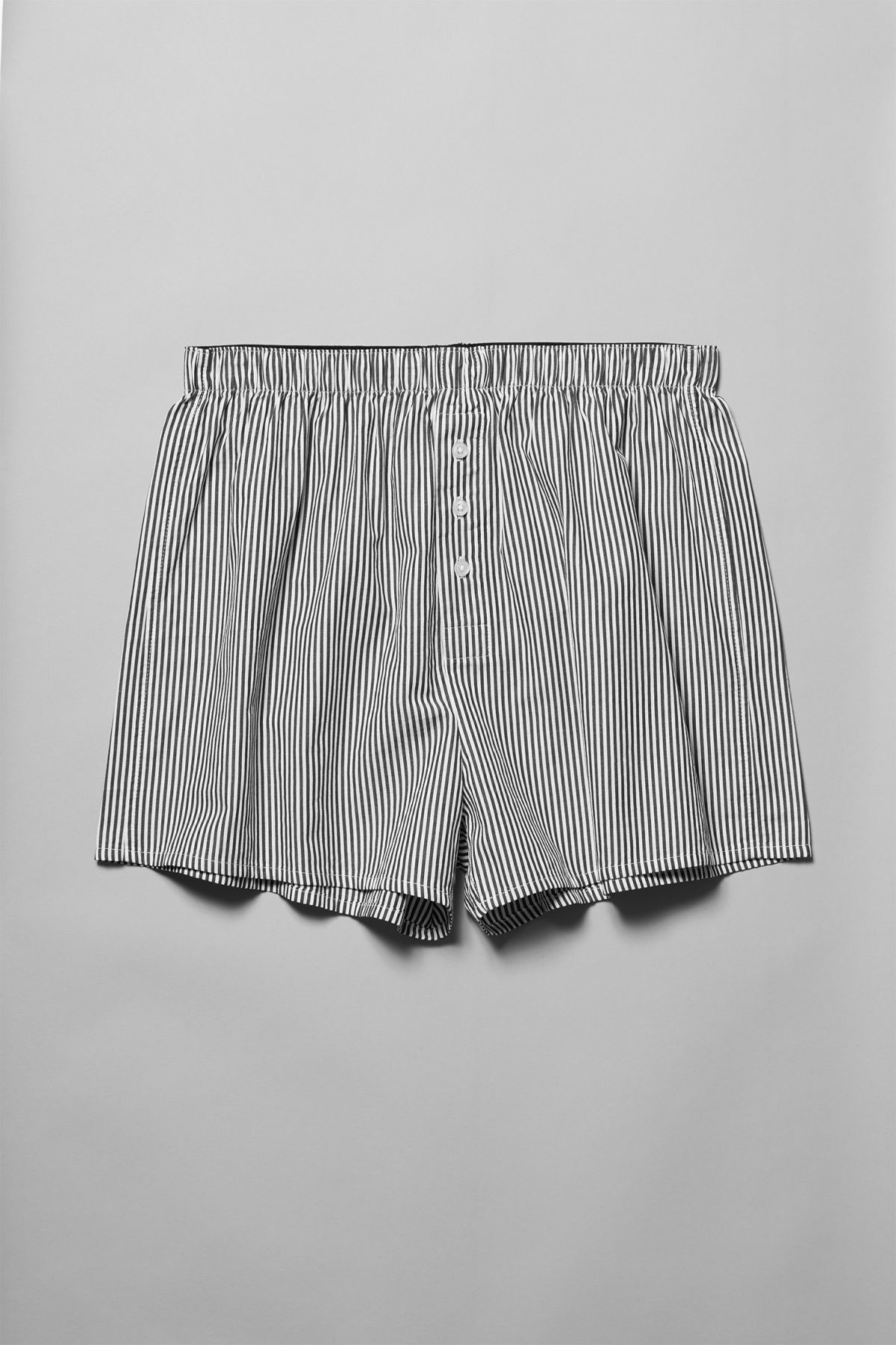 Front image of Weekday kronos woven boxers in white