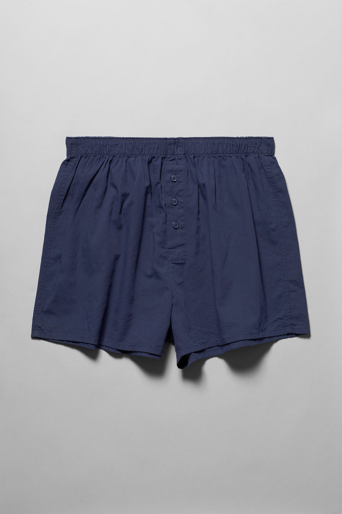 Front image of Weekday kronos woven boxers in blue