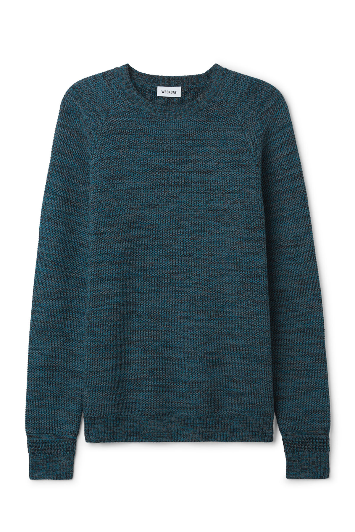 Front image of Weekday cave sweater in blue