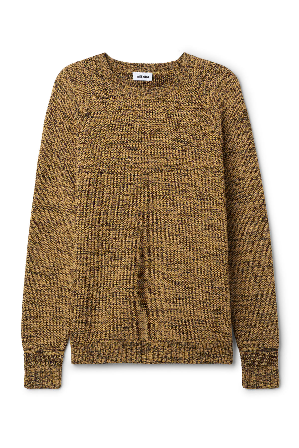 Front image of Weekday cave sweater in yellow