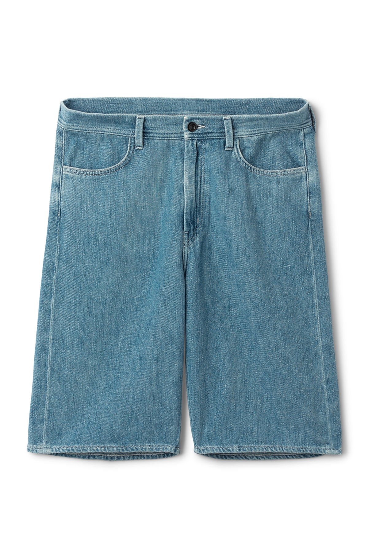 Front image of Weekday vivaan shorts iso blue in blue