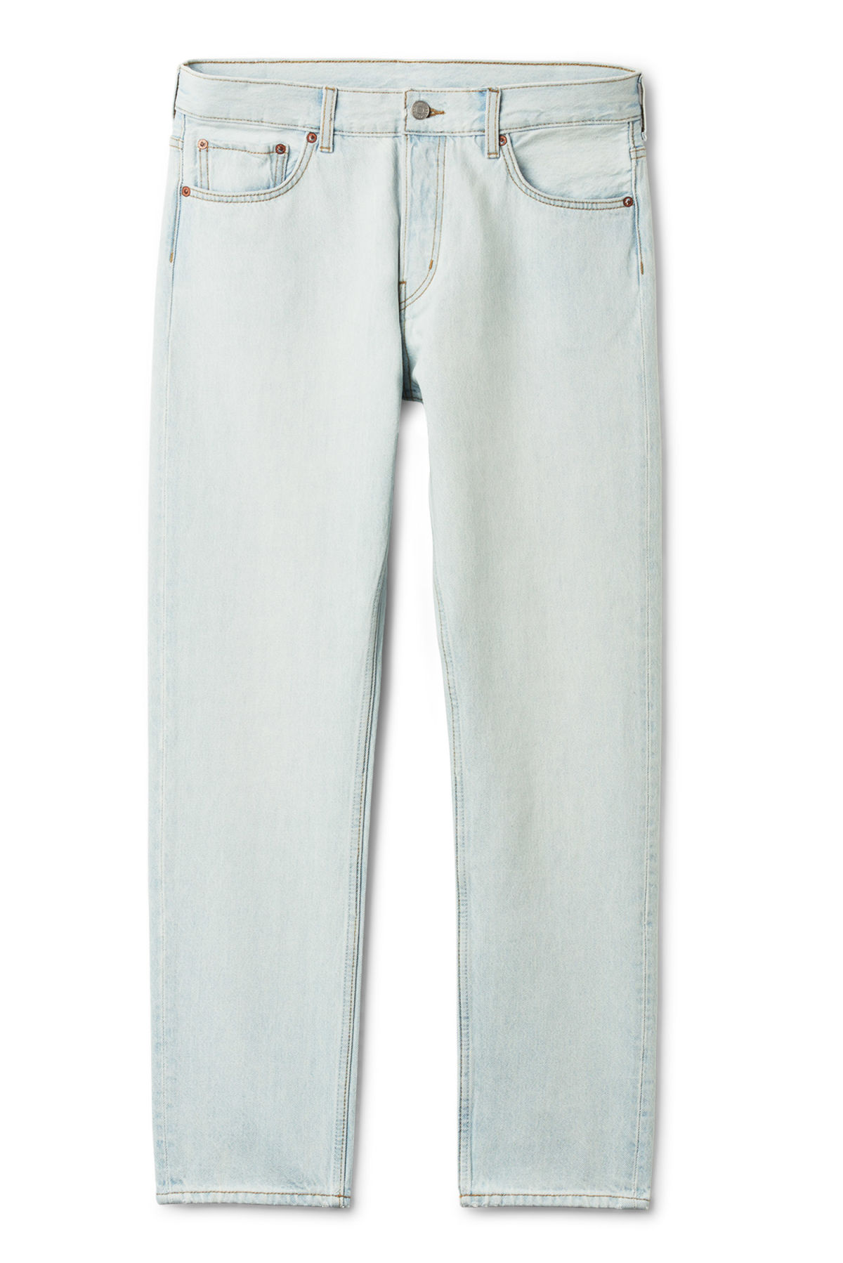 Front image of Weekday pine bleached jeans in blue