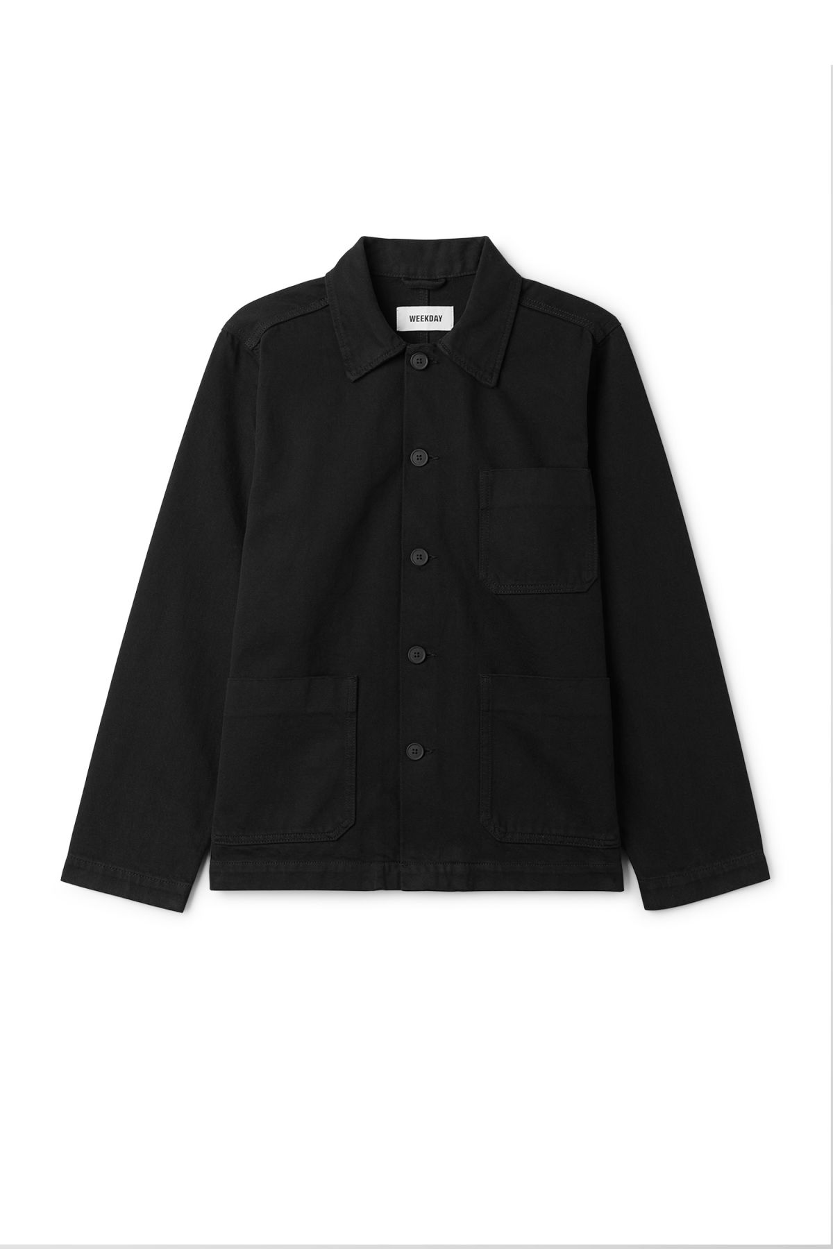 Front image of Weekday generic od black jacket  in black