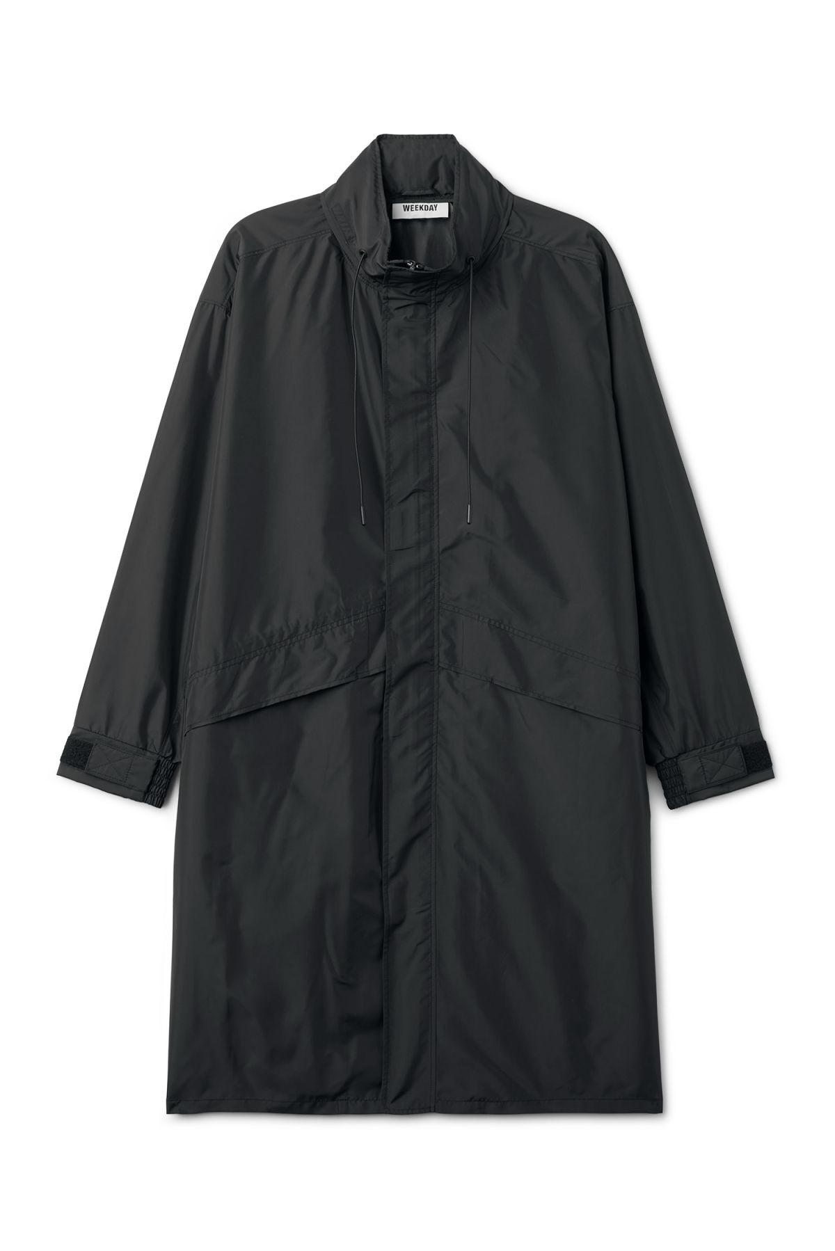 Front image of Weekday hagfors parka in black