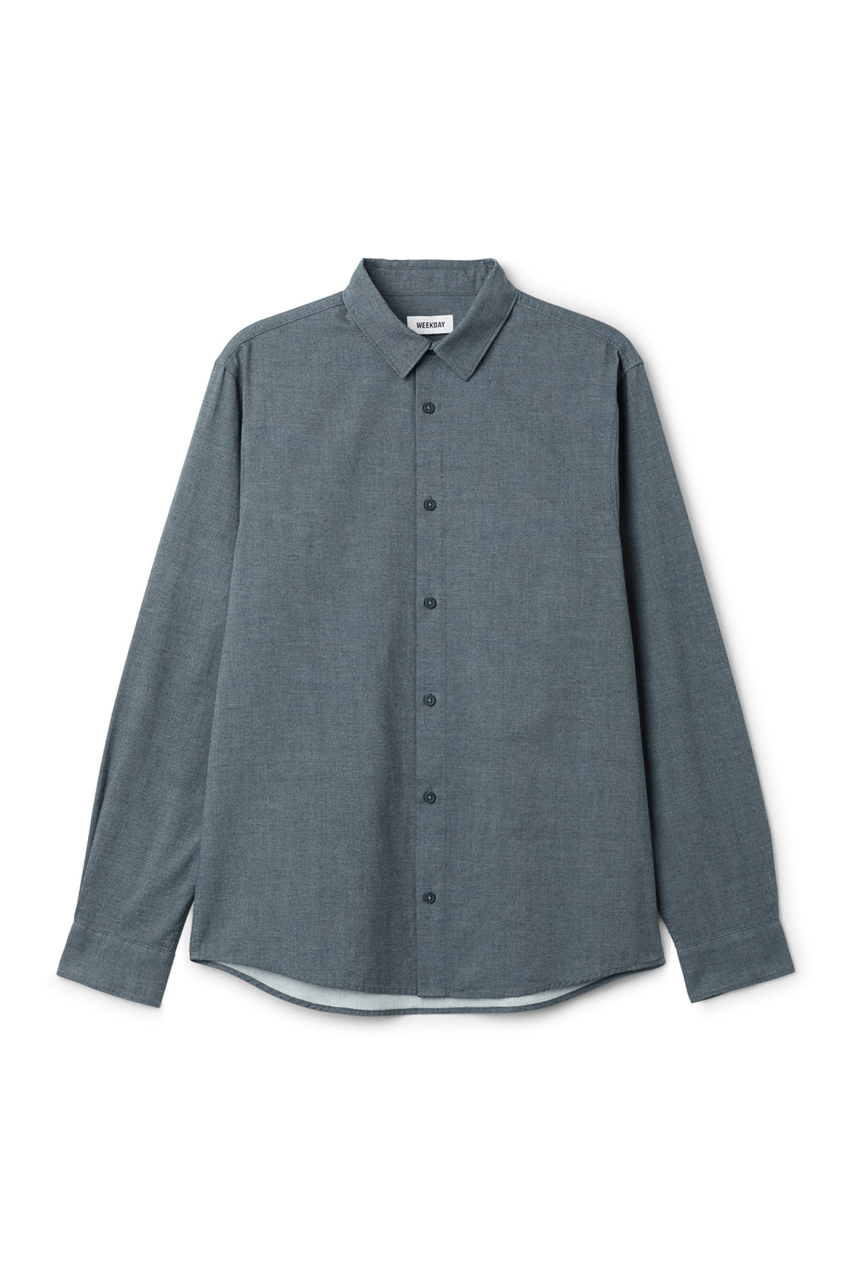 Front image of Weekday pablo shirt in blue