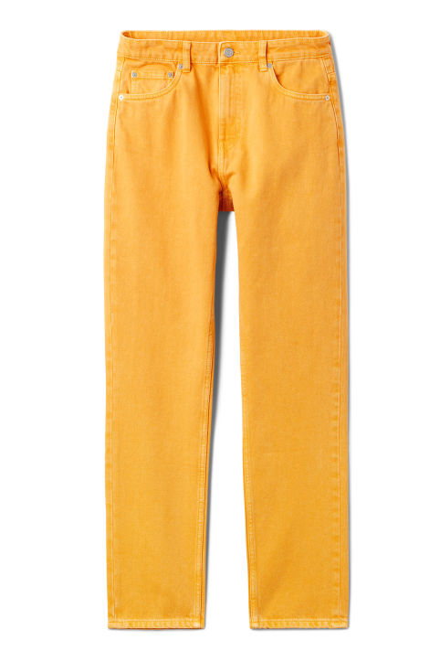 Weekday Seattle Yellow Jeans
