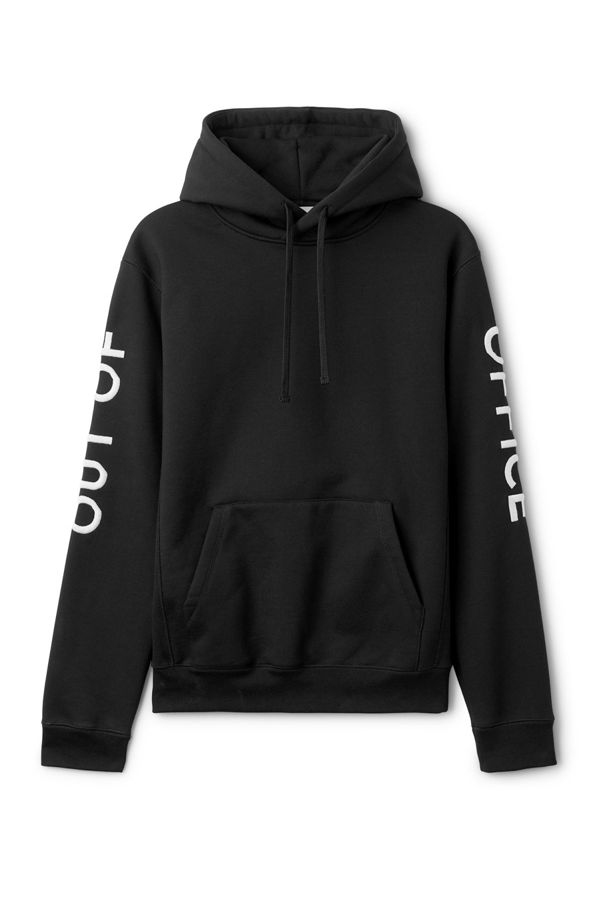 Front image of Weekday matty hoodie  in black