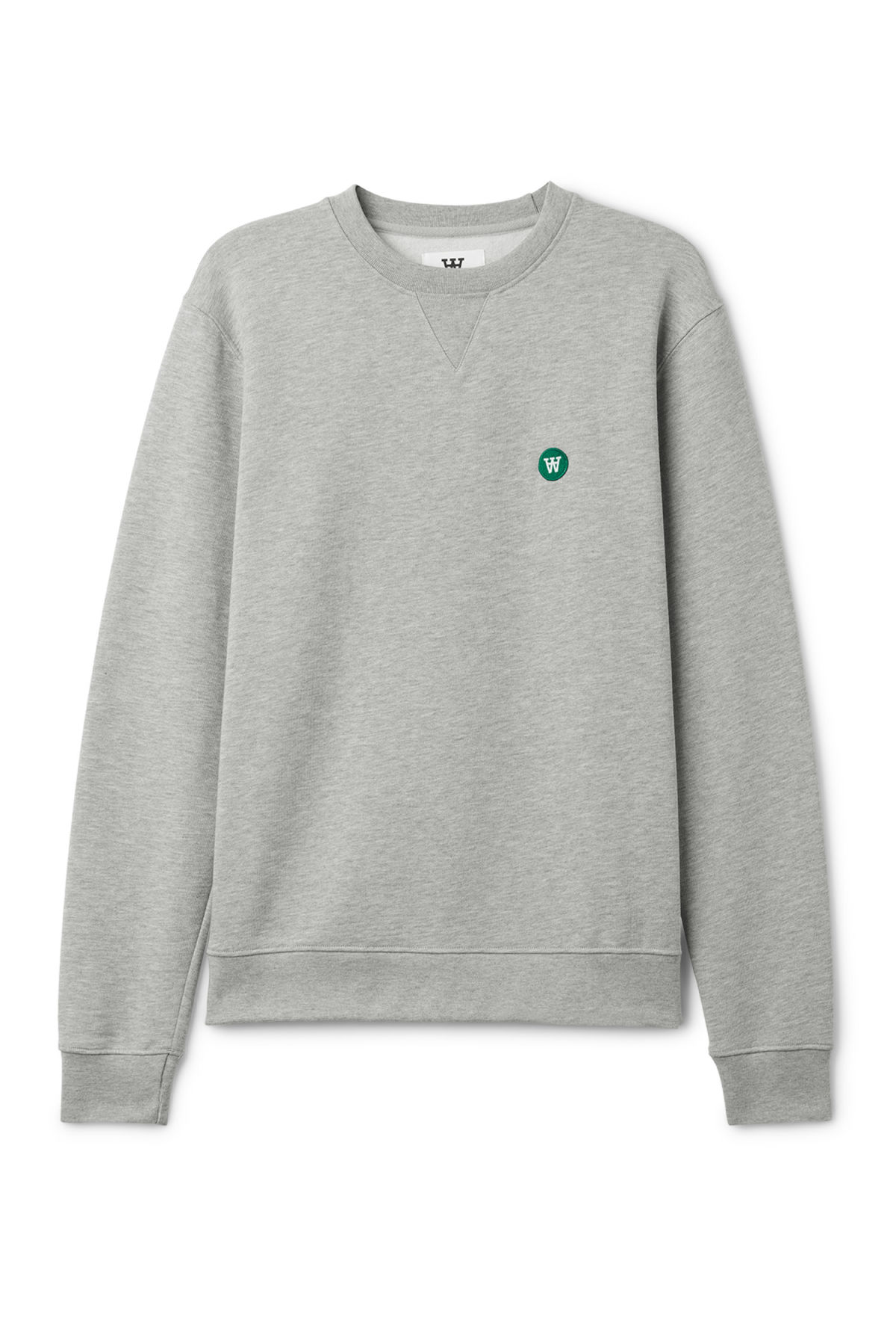 Front image of Weekday tye sweatshirt in grey