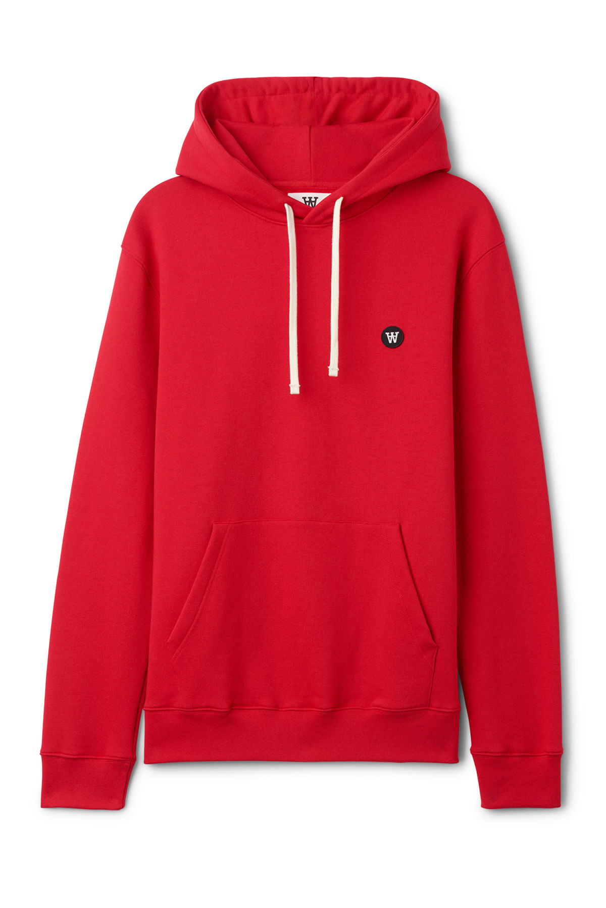Front image of Weekday ian hoodie  in red