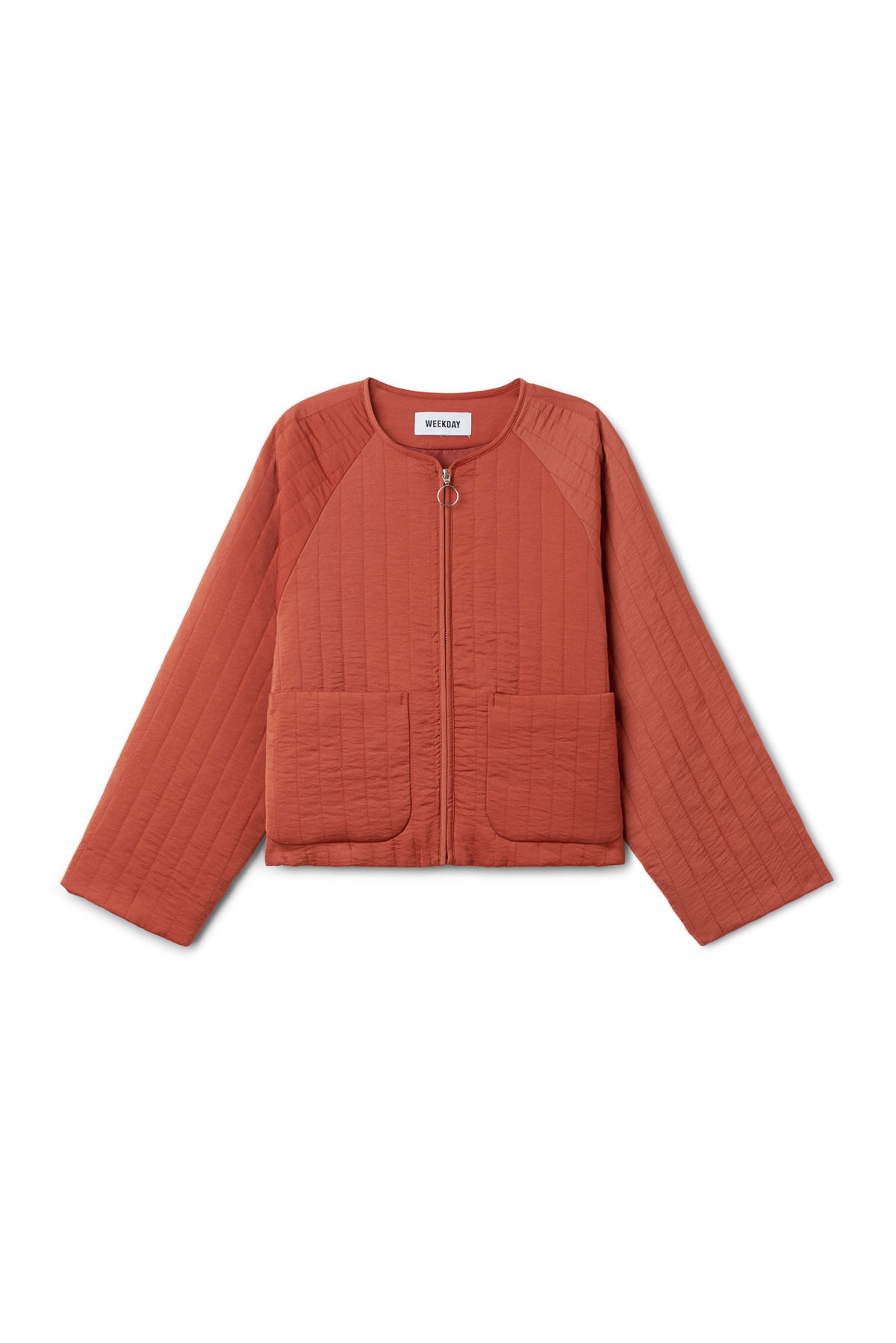 Front image of Weekday angie jacket in orange