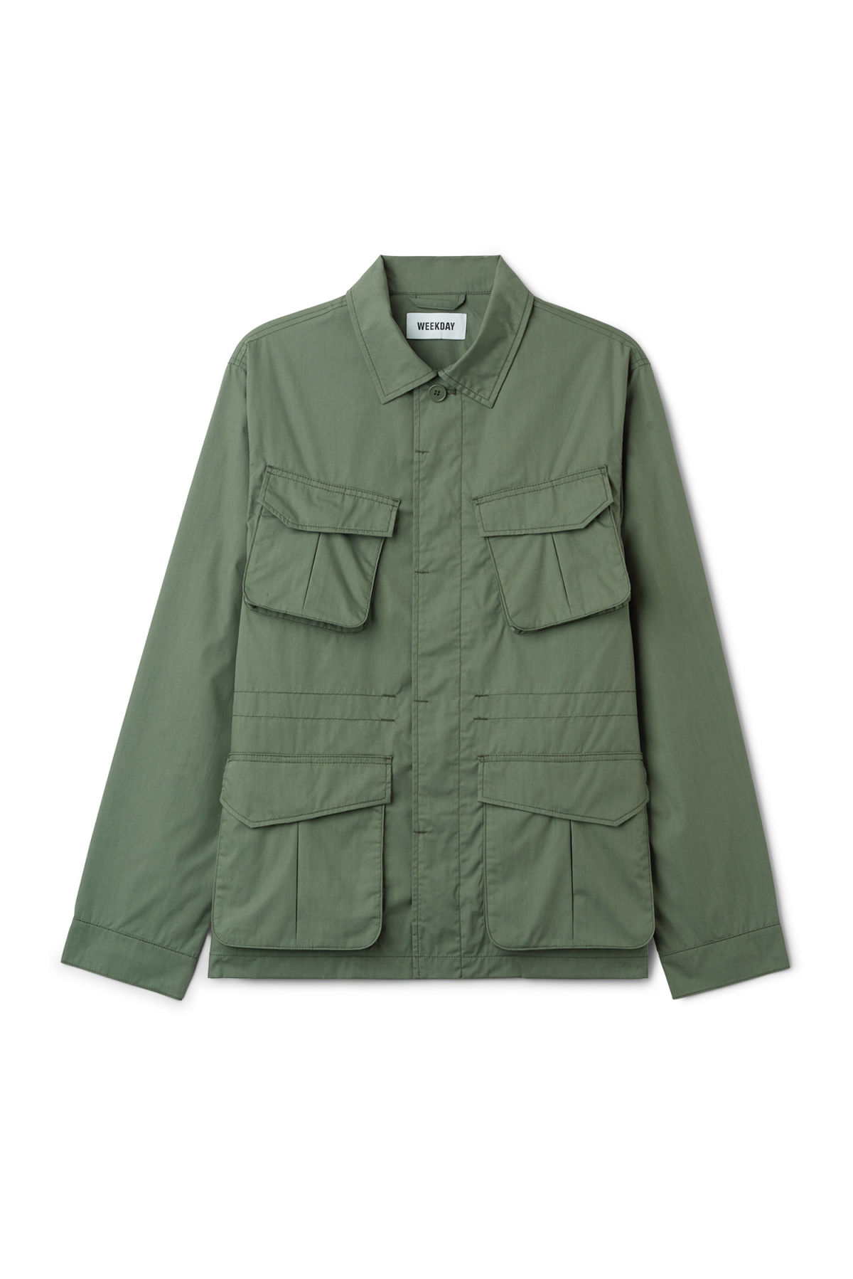 Front image of Weekday keith pocket jacket in green